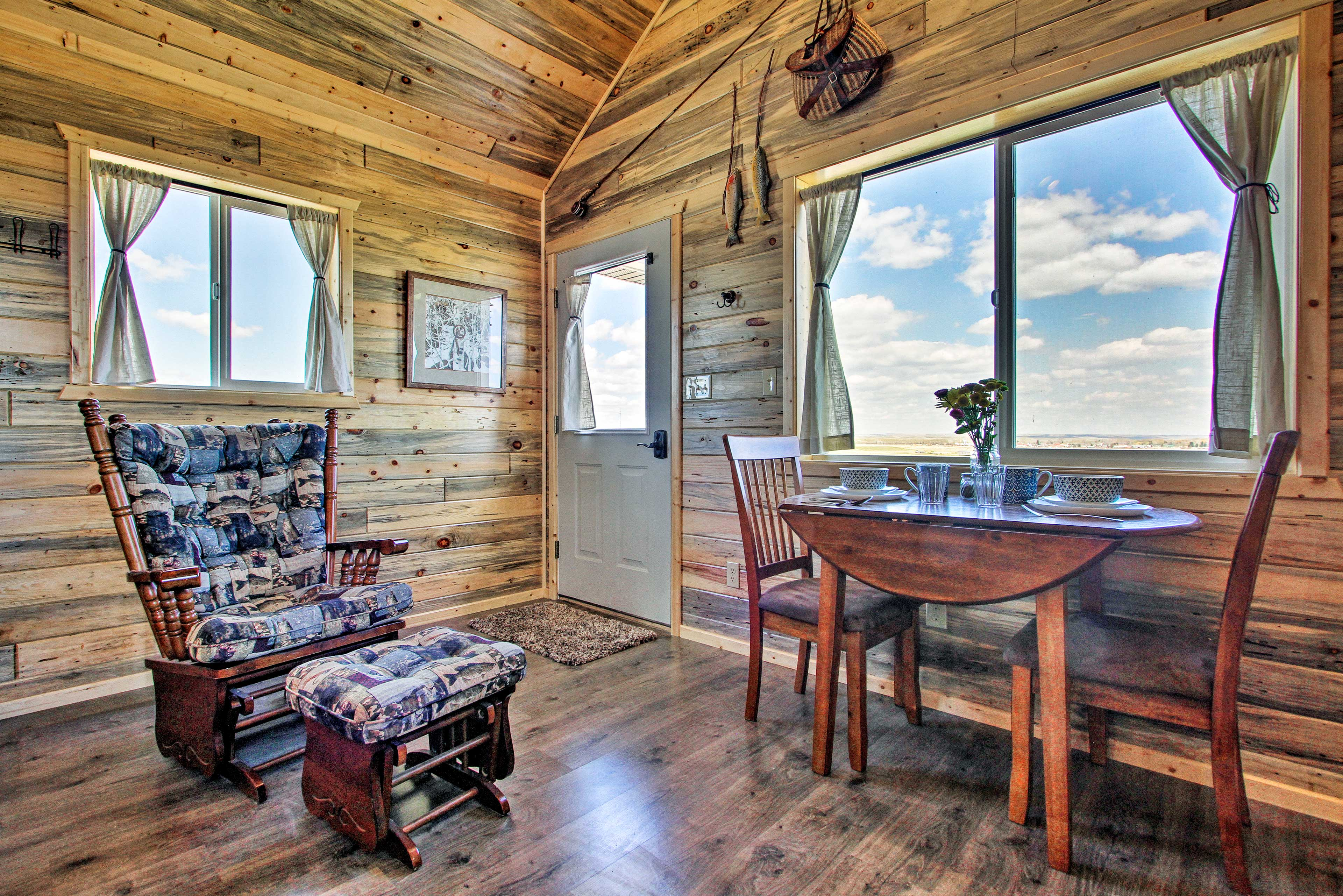Kick back in the rocking chair and look out onto pastoral views.