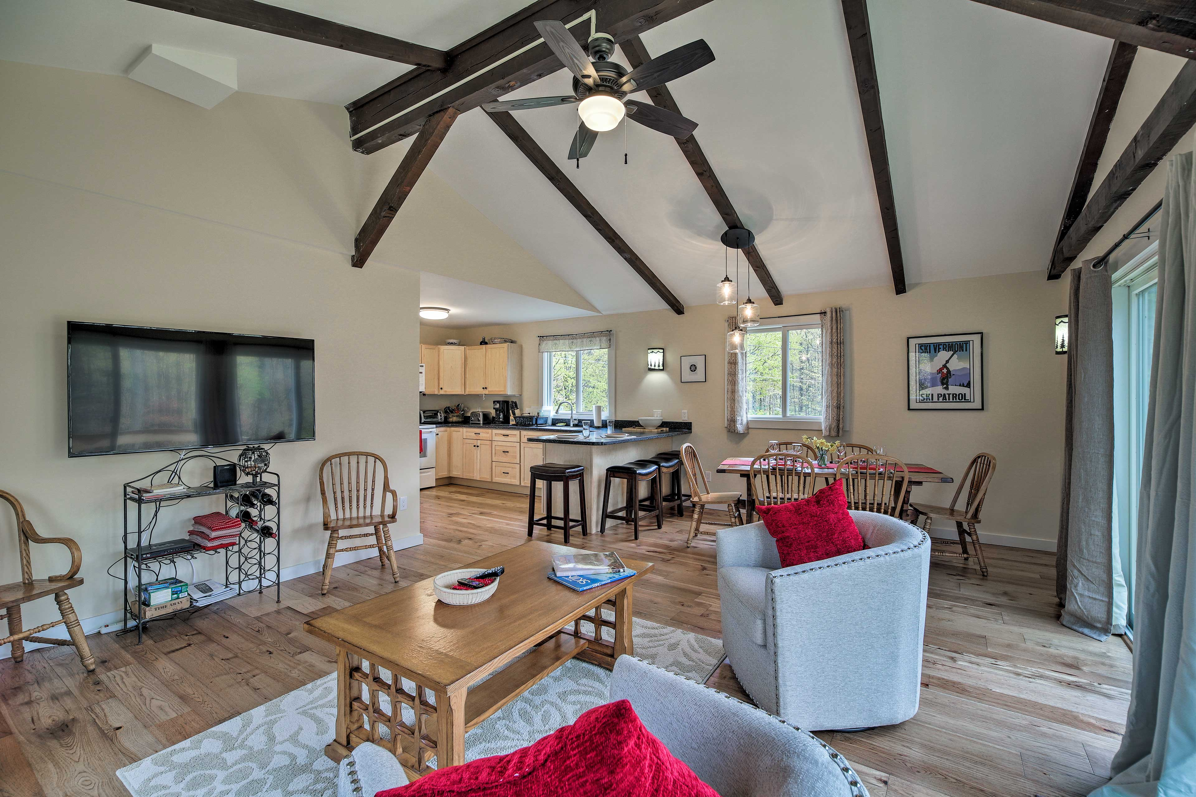 Ceiling fans will keep the air circulating.