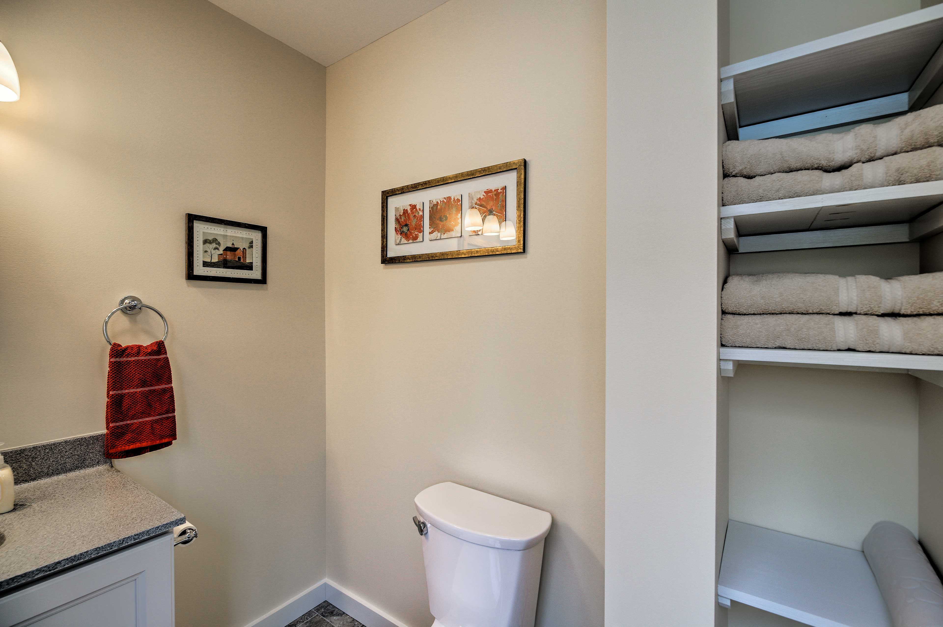 Complimentary towels add convenience to your stay.