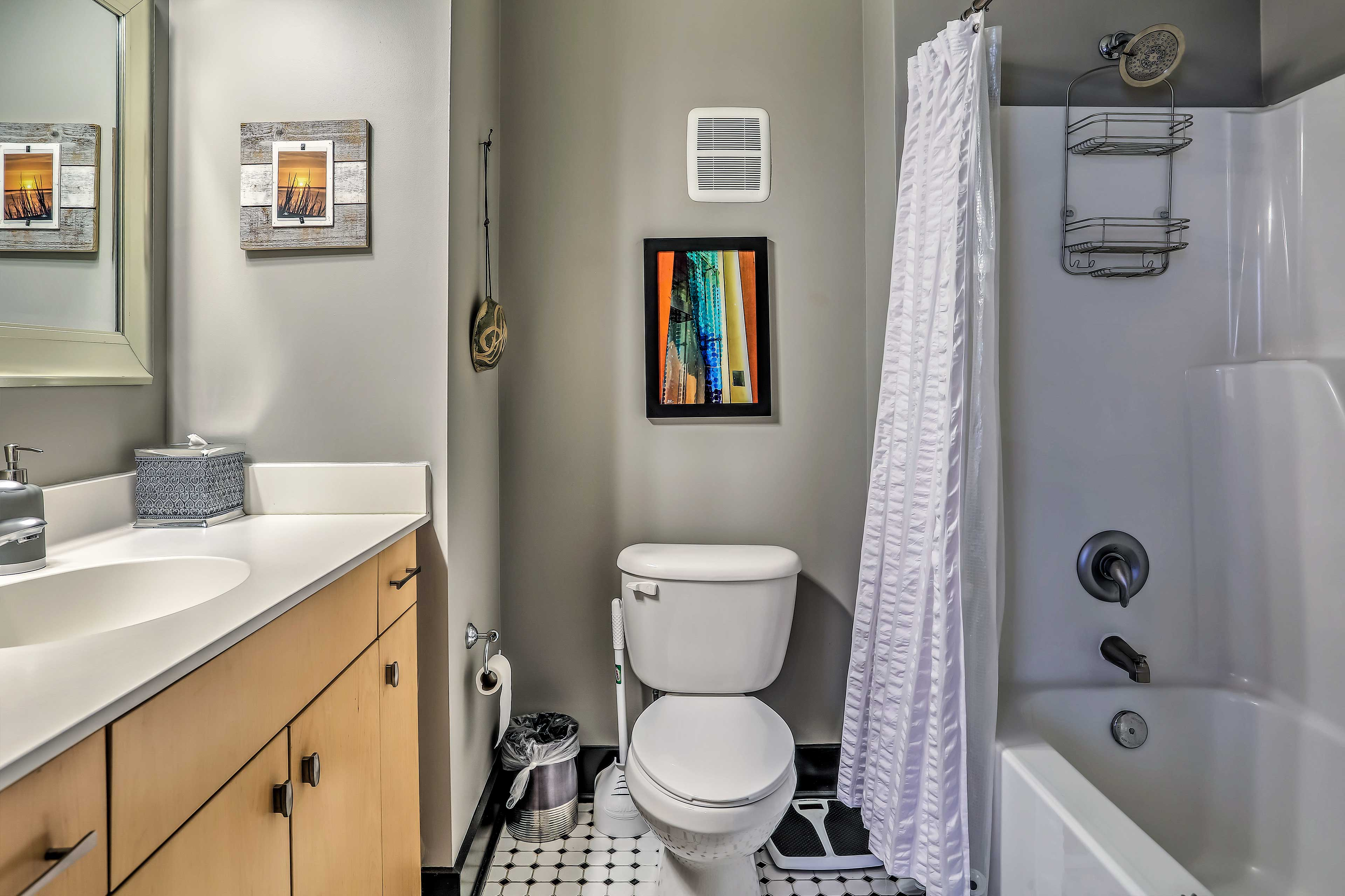 There are 2 bathrooms in this lovely condo.