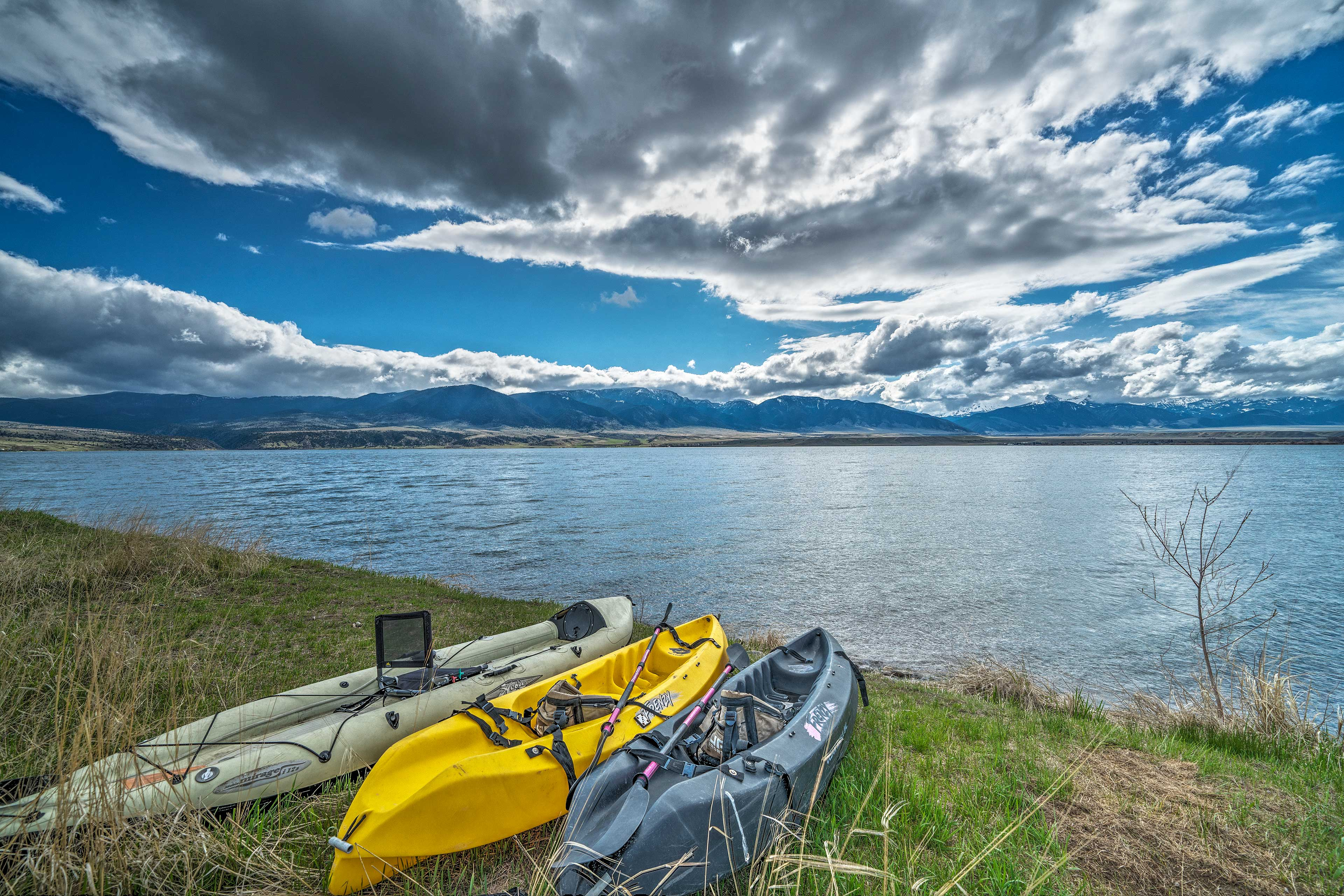 Spend your days marveling at mountain views and kayaking on Ennis Lake's shore.