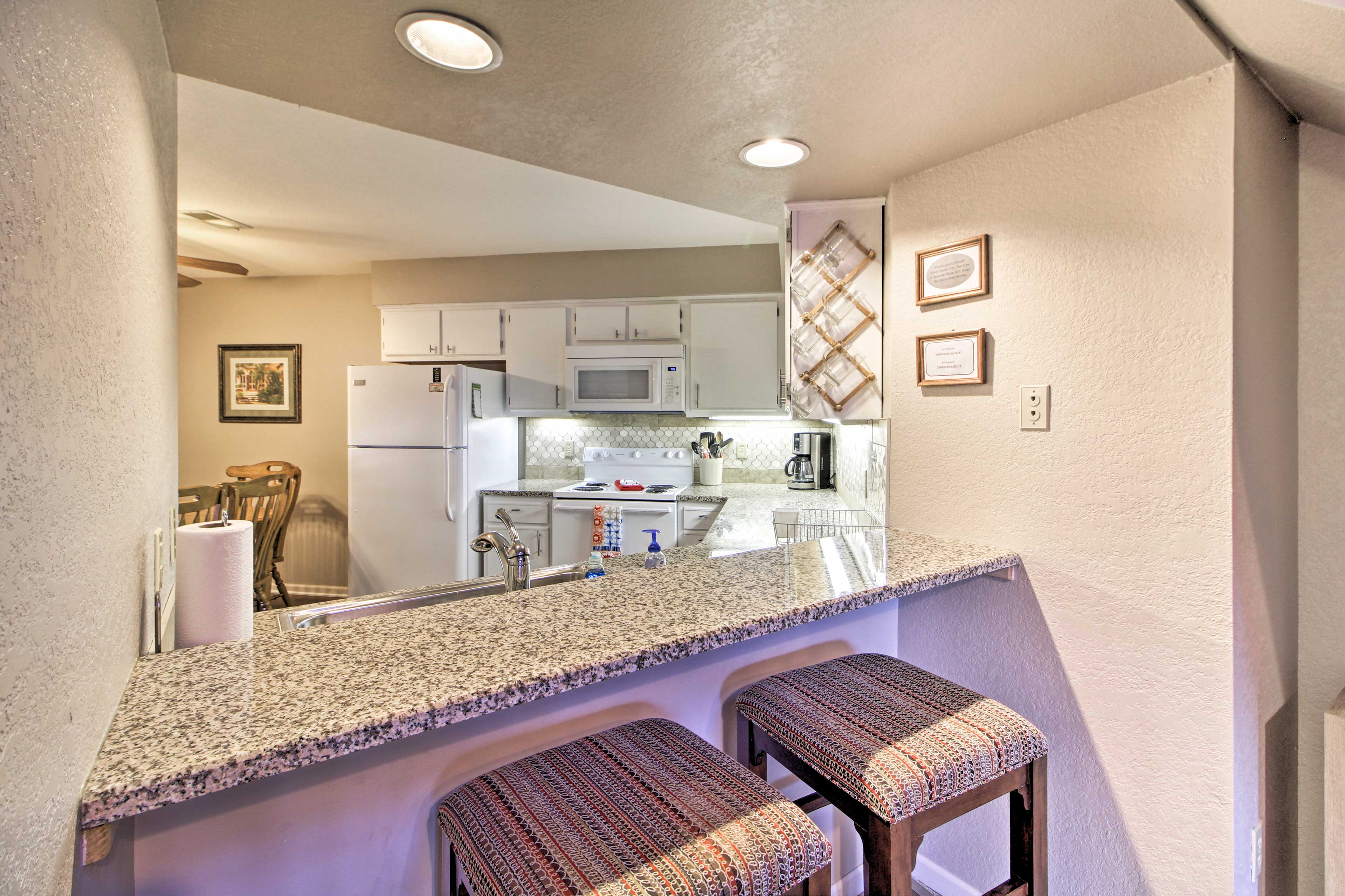 Breakfast Bar | Fully Equipped Kitchen