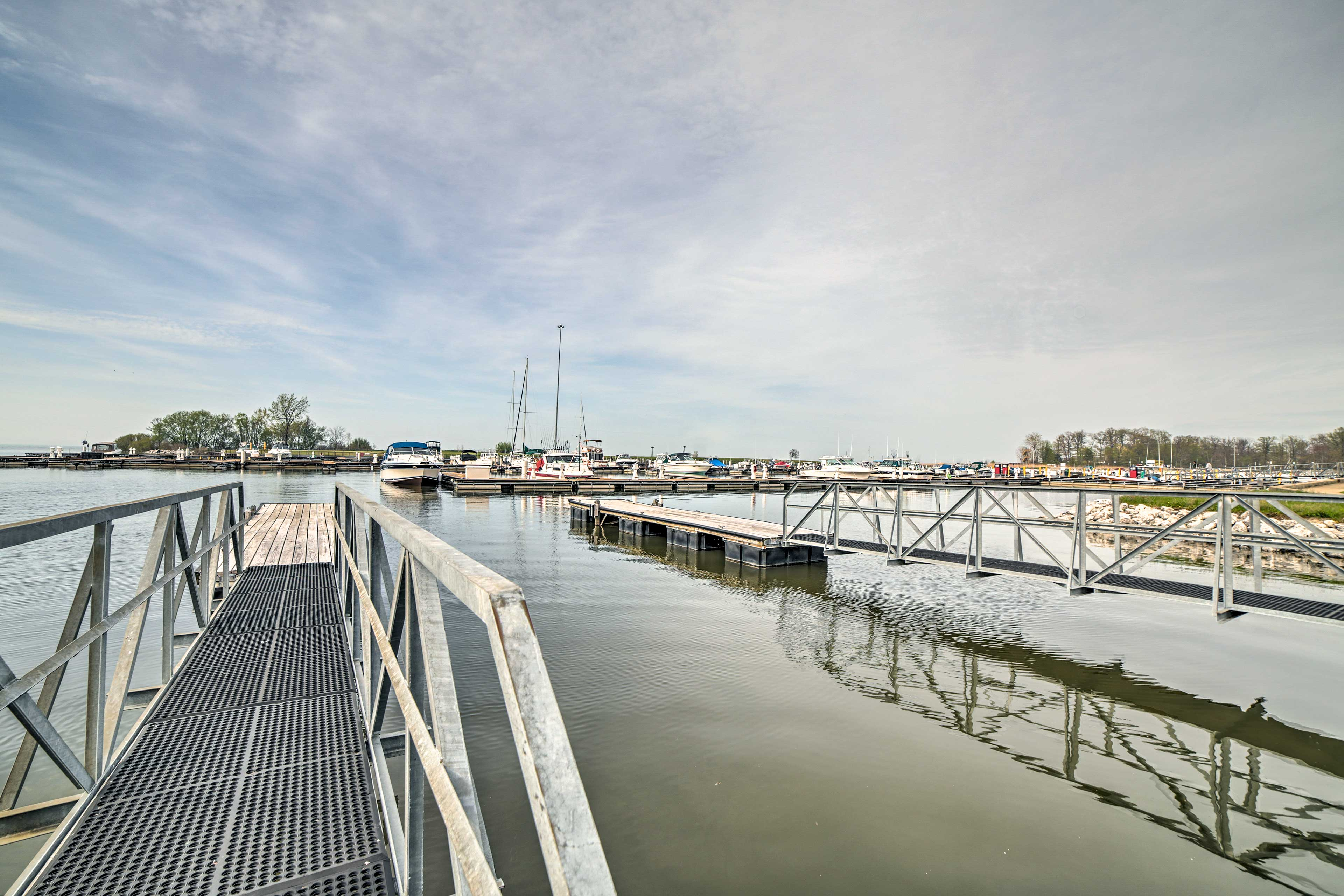 Head a few miles to the marina for a boating adventure.
