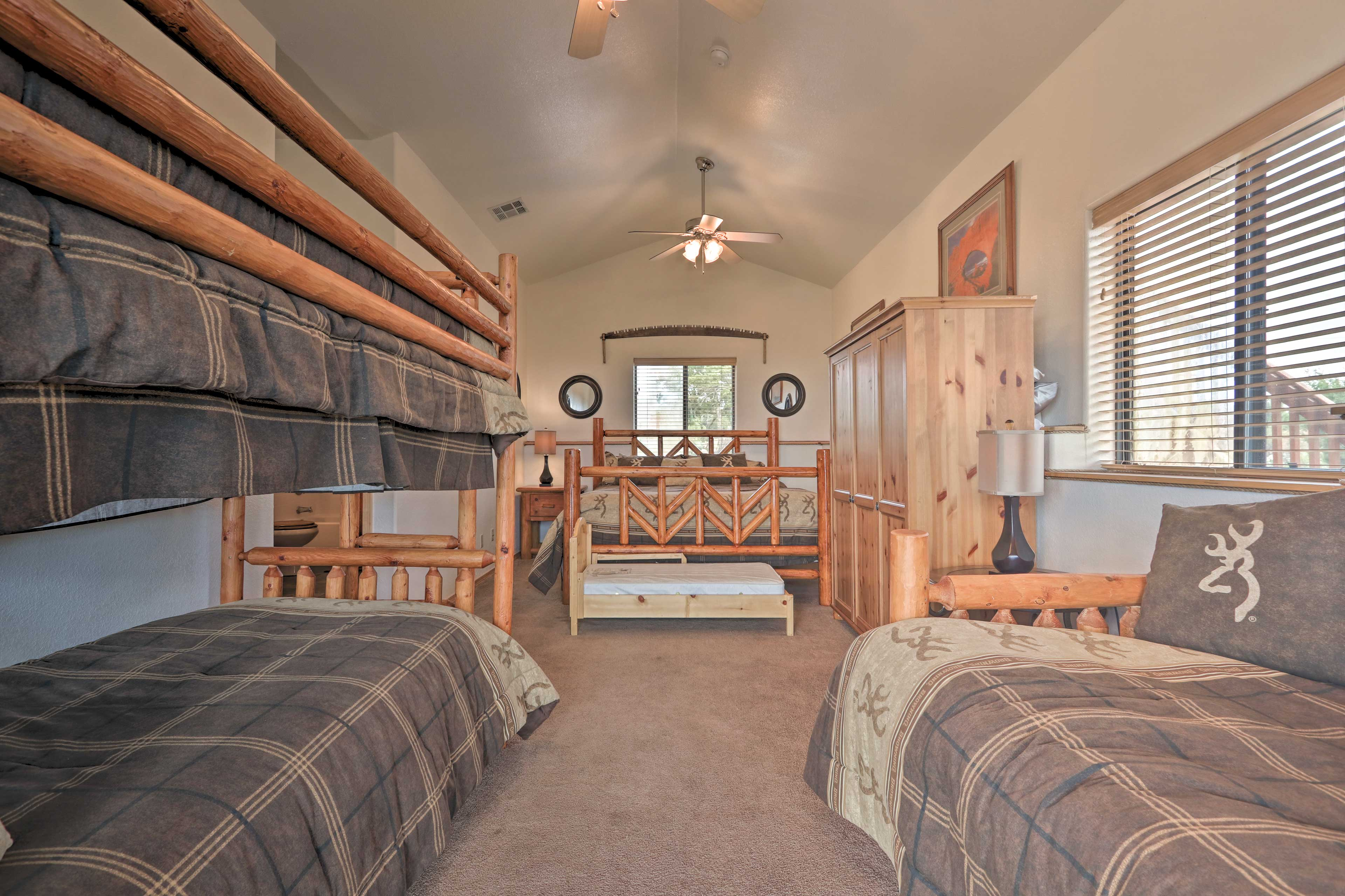The 4th bedroom easily sleeps 6 between a king bed, twin bunk, and 2 twin beds.