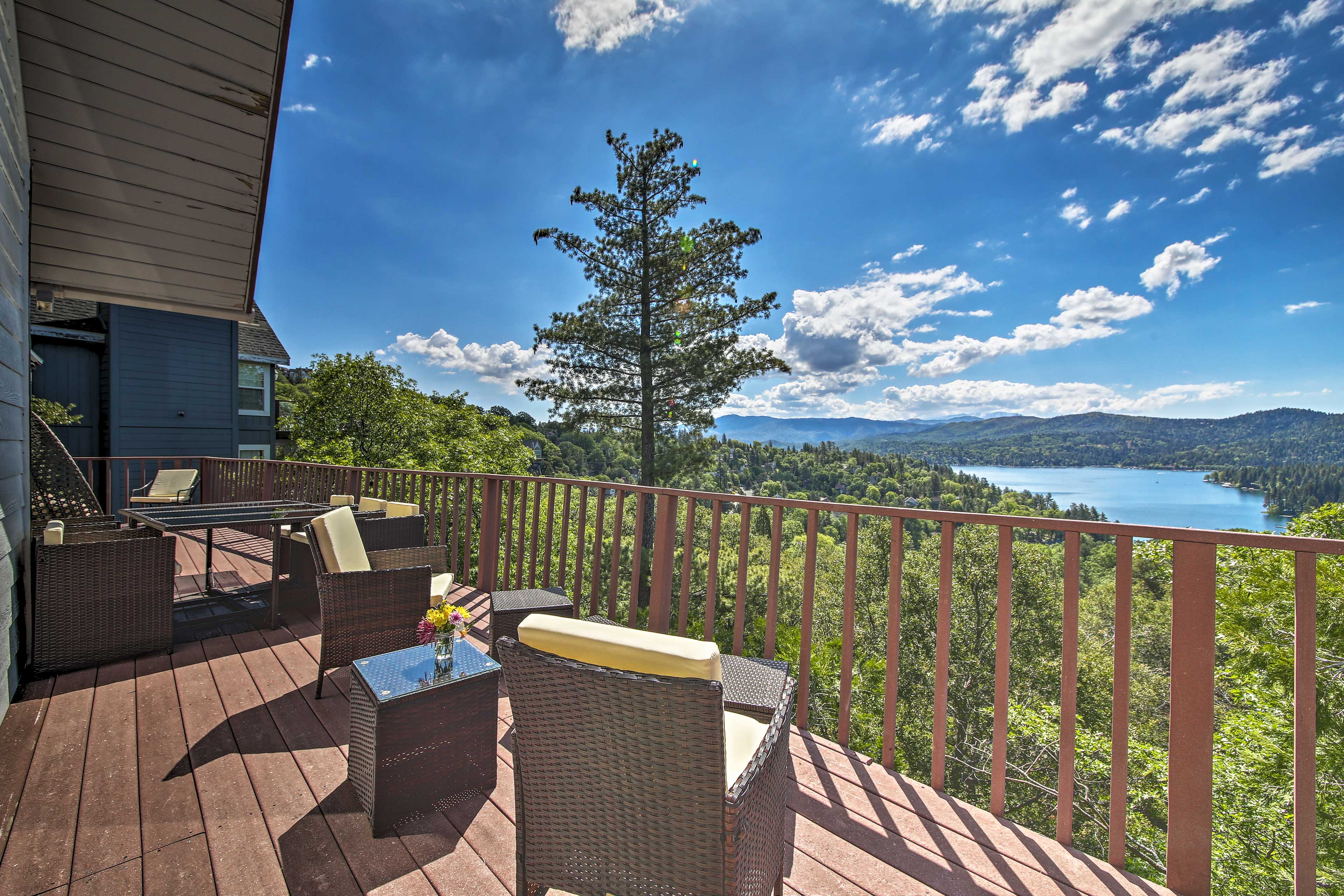 Grab a glass of wine and unwind on the deck.