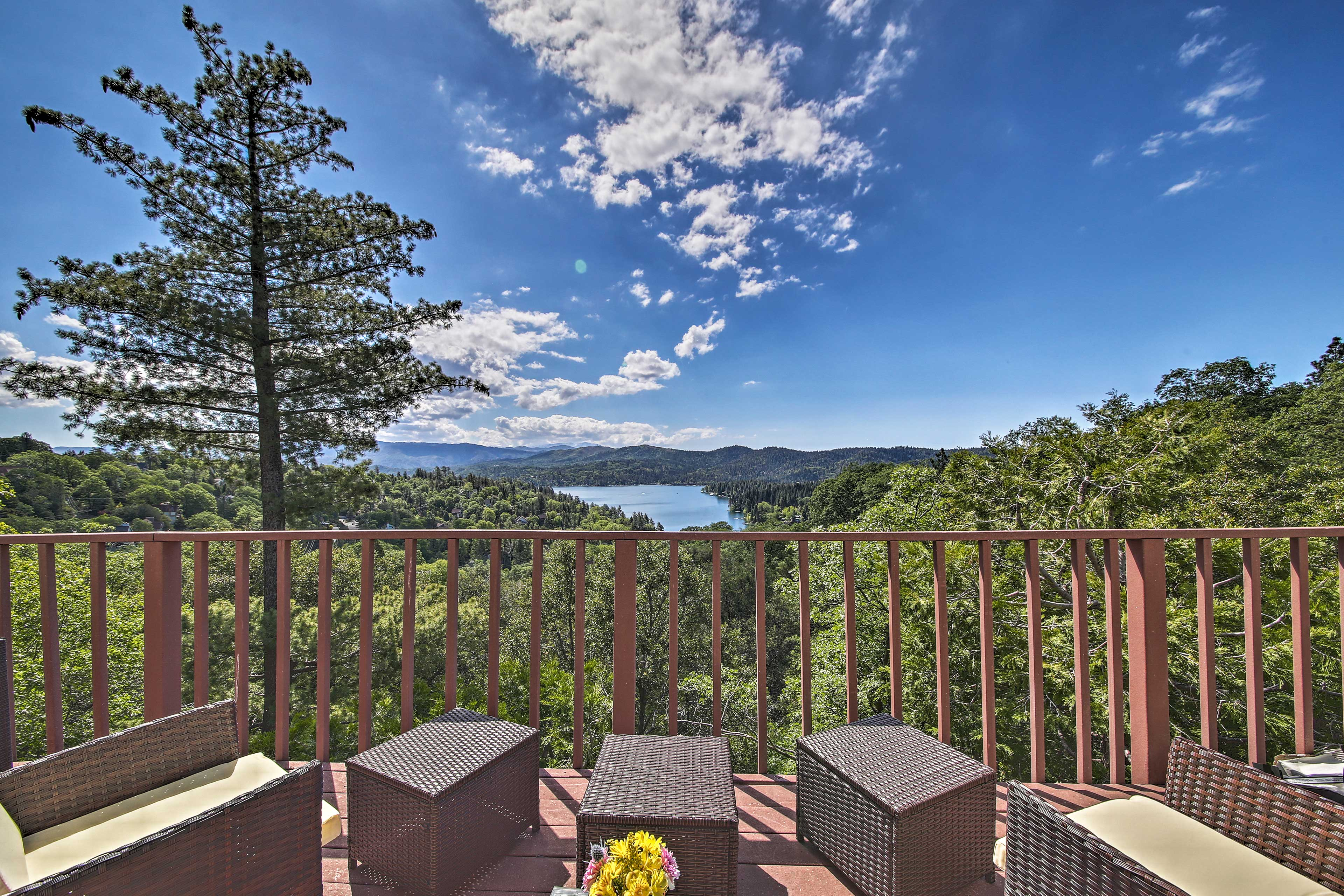 Take in the view each day of your stay at this Lake Arrowhead cabin.