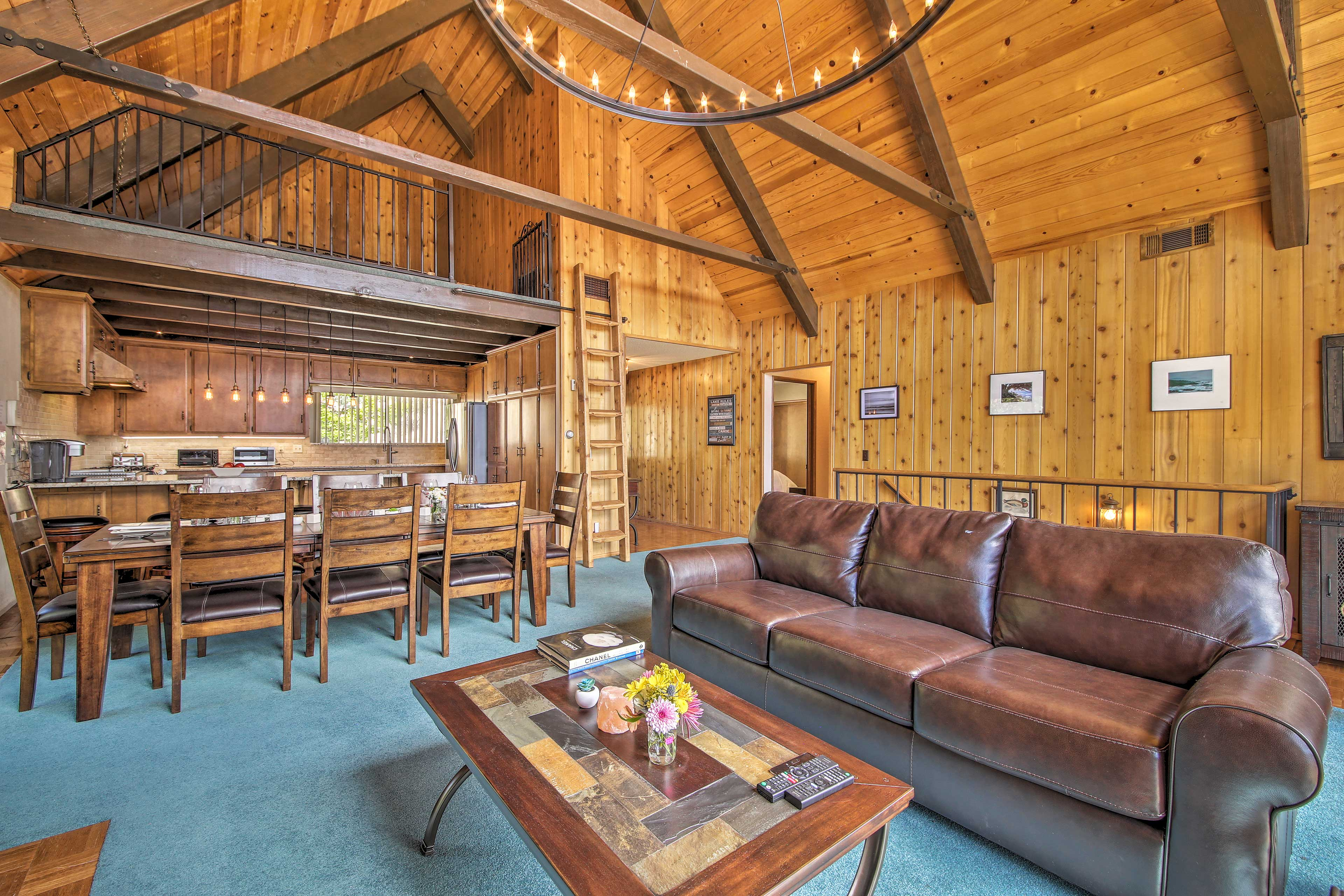 Find open spaces offering room for everyone in this home.