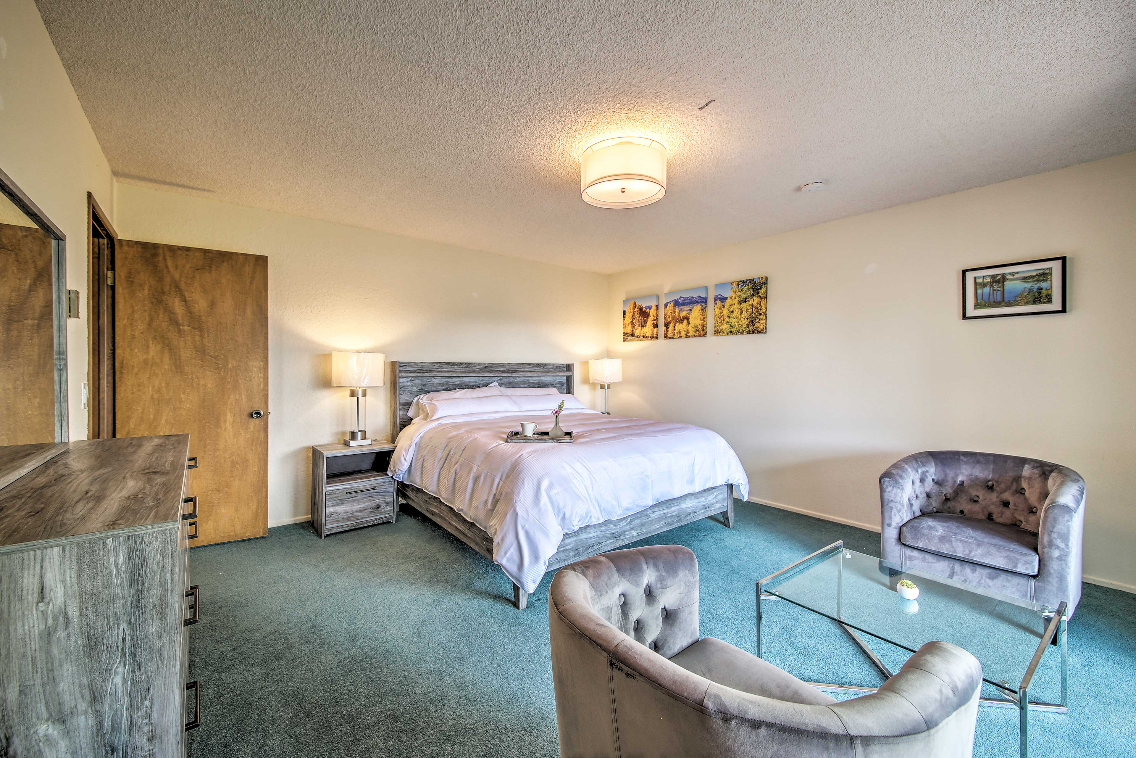 Head to the second level of the home and enjoy bedroom 2.