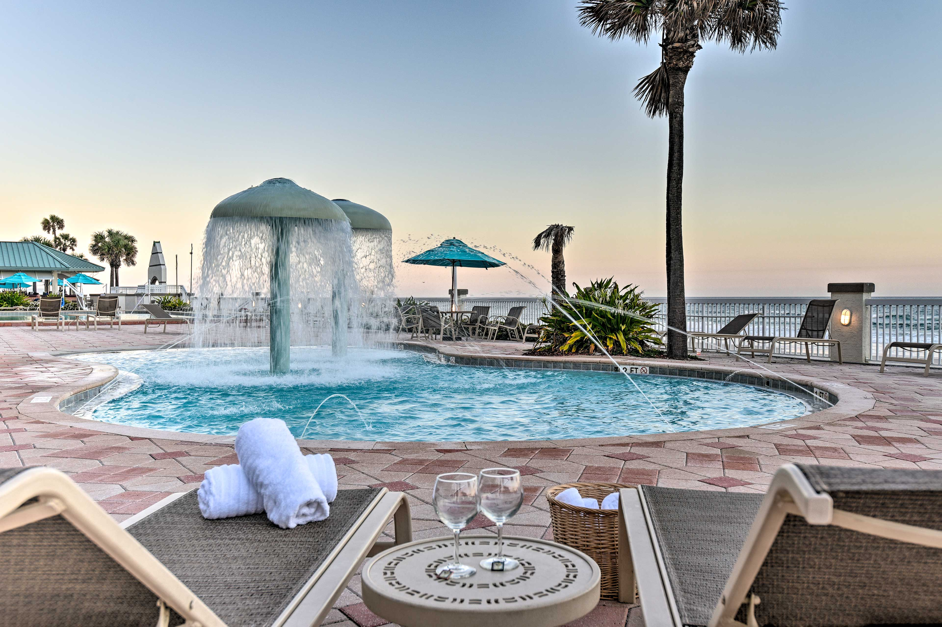 The studio is located at the Daytona Beach Resort and Conference Center.