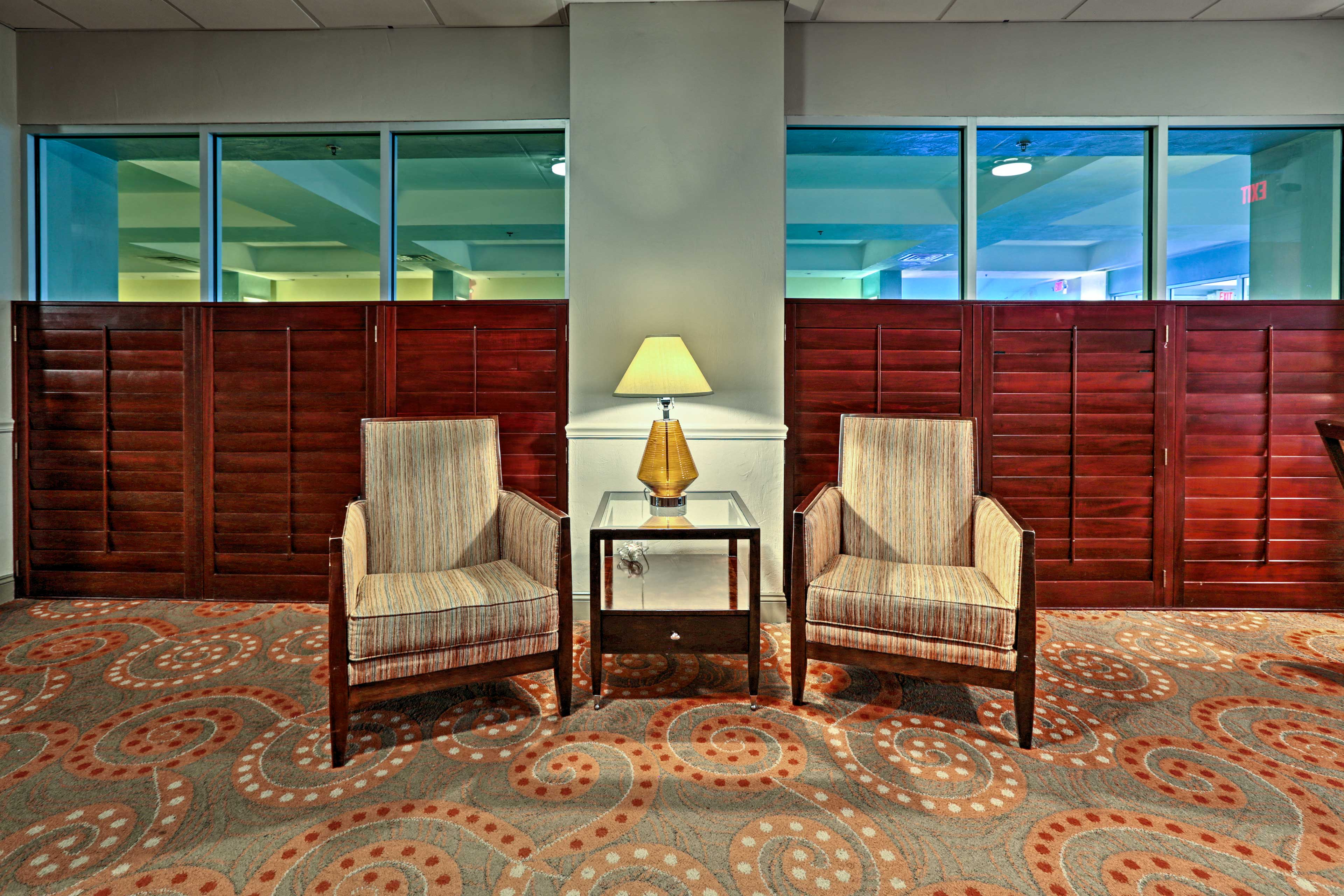 Unwind in the lobby.