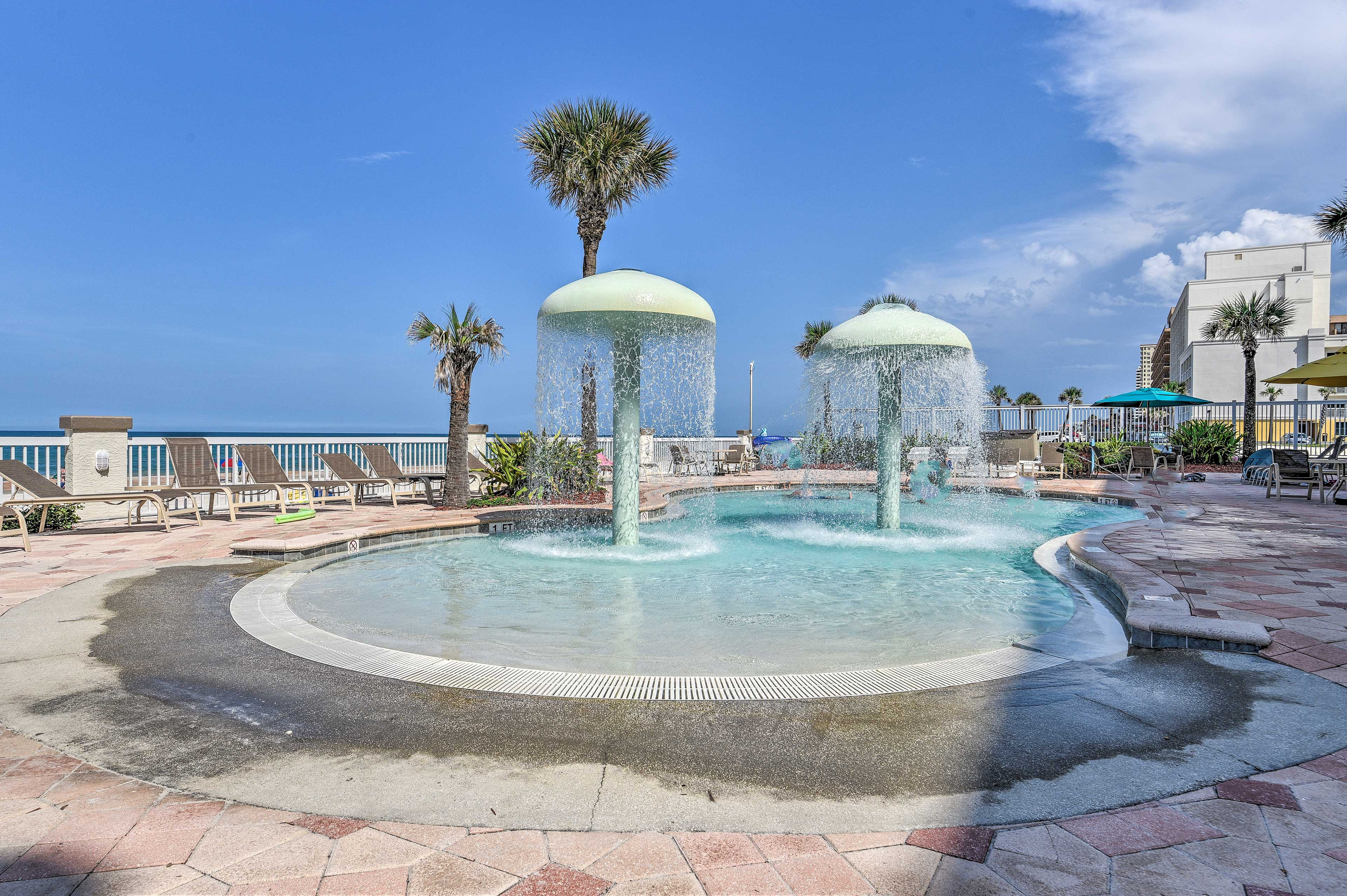 The resort features outdoor pools perfect for everyone of all ages!