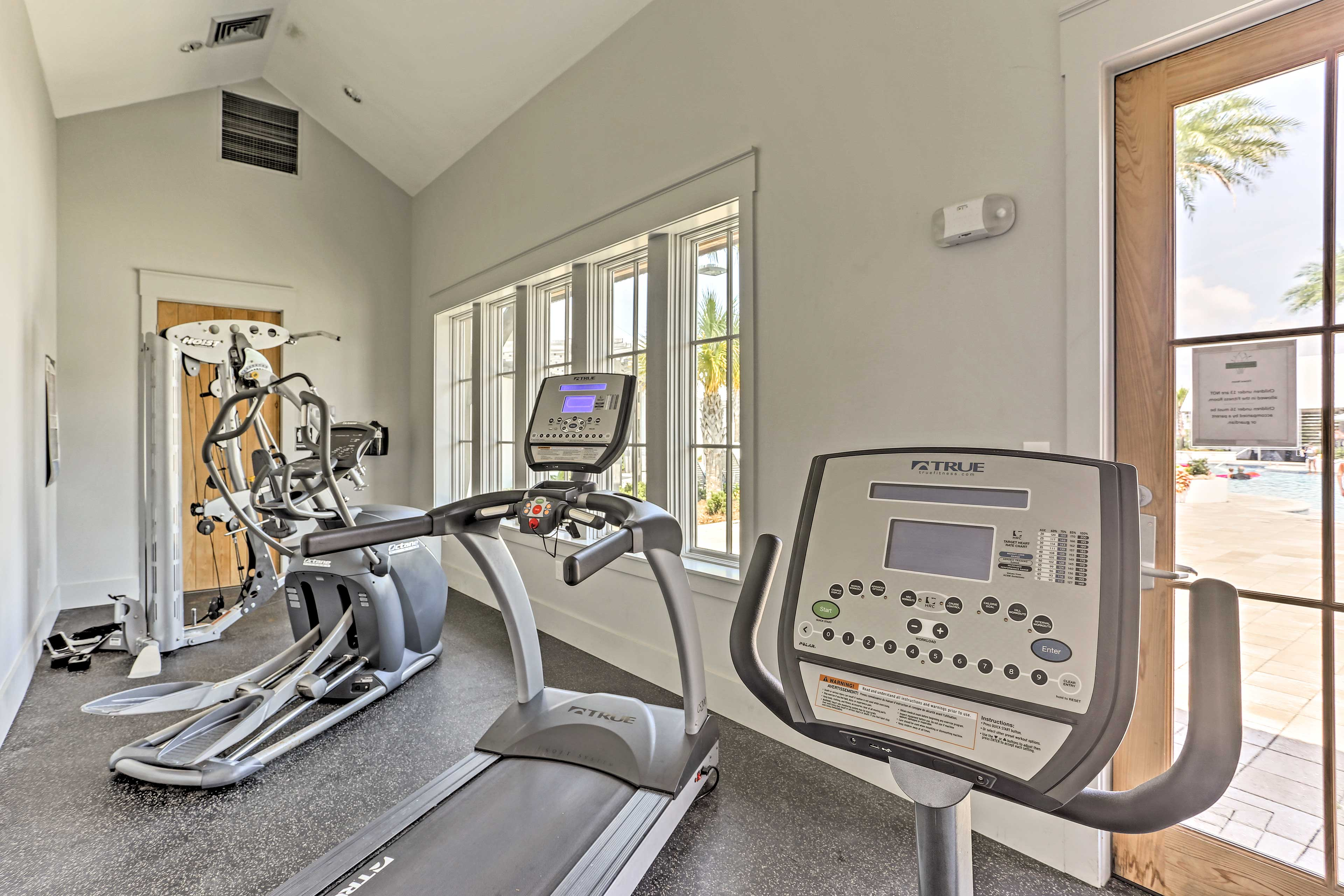 Work up a sweat in the on-site fitness center.