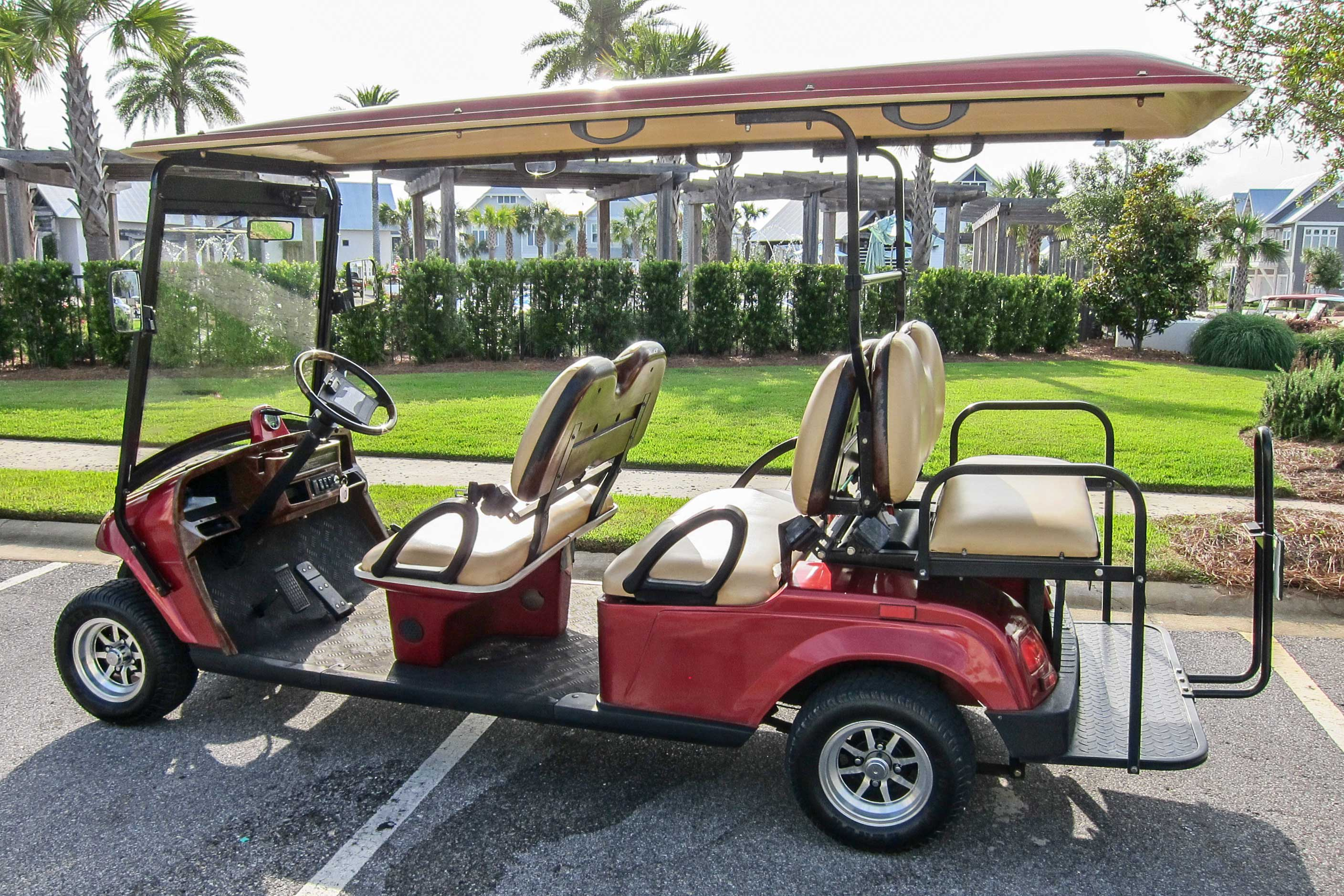 Guests over the age of 25 will be able to drive the golf cart!