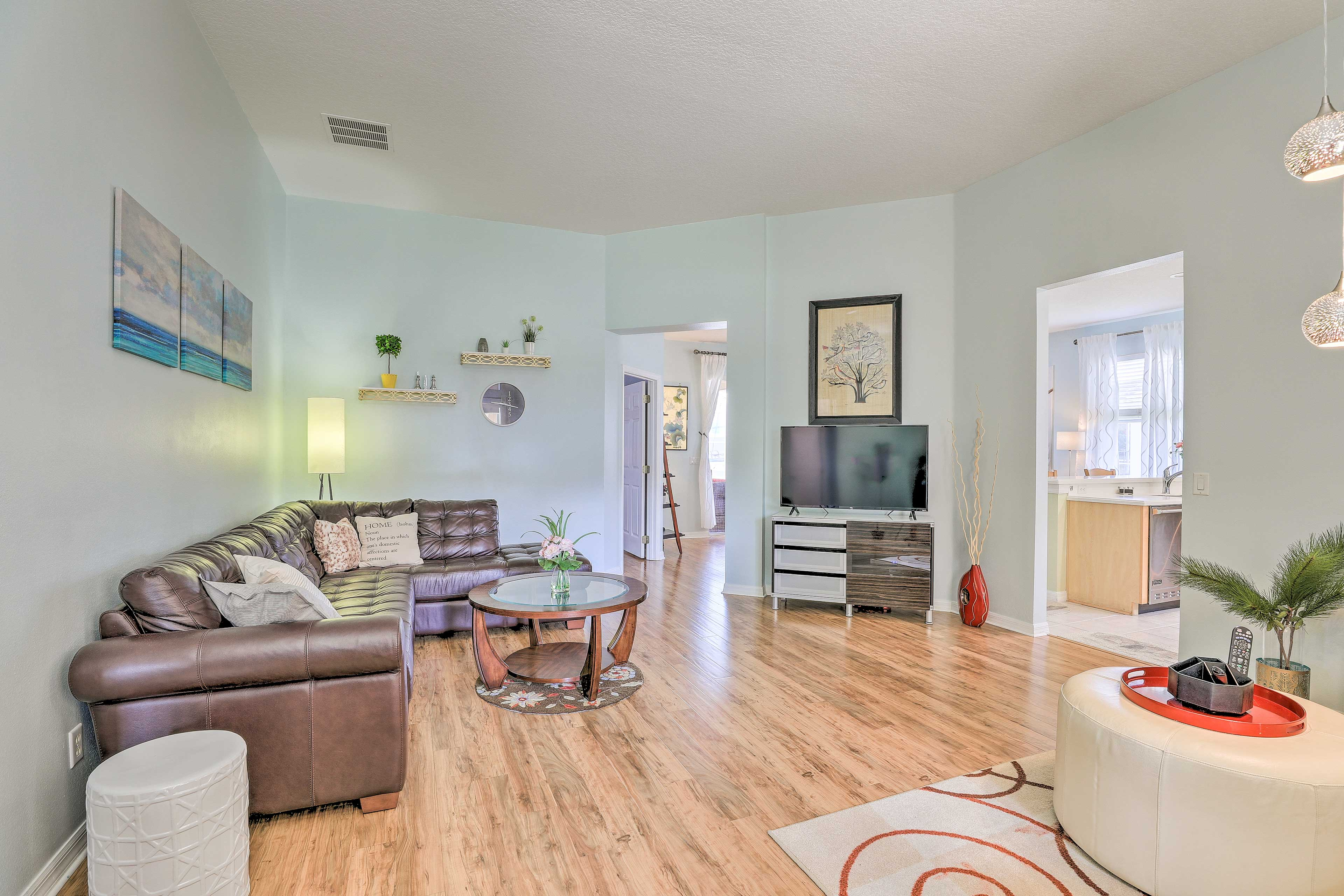 There are 3 bedrooms, 2 bathrooms, and space for 6 travelers!