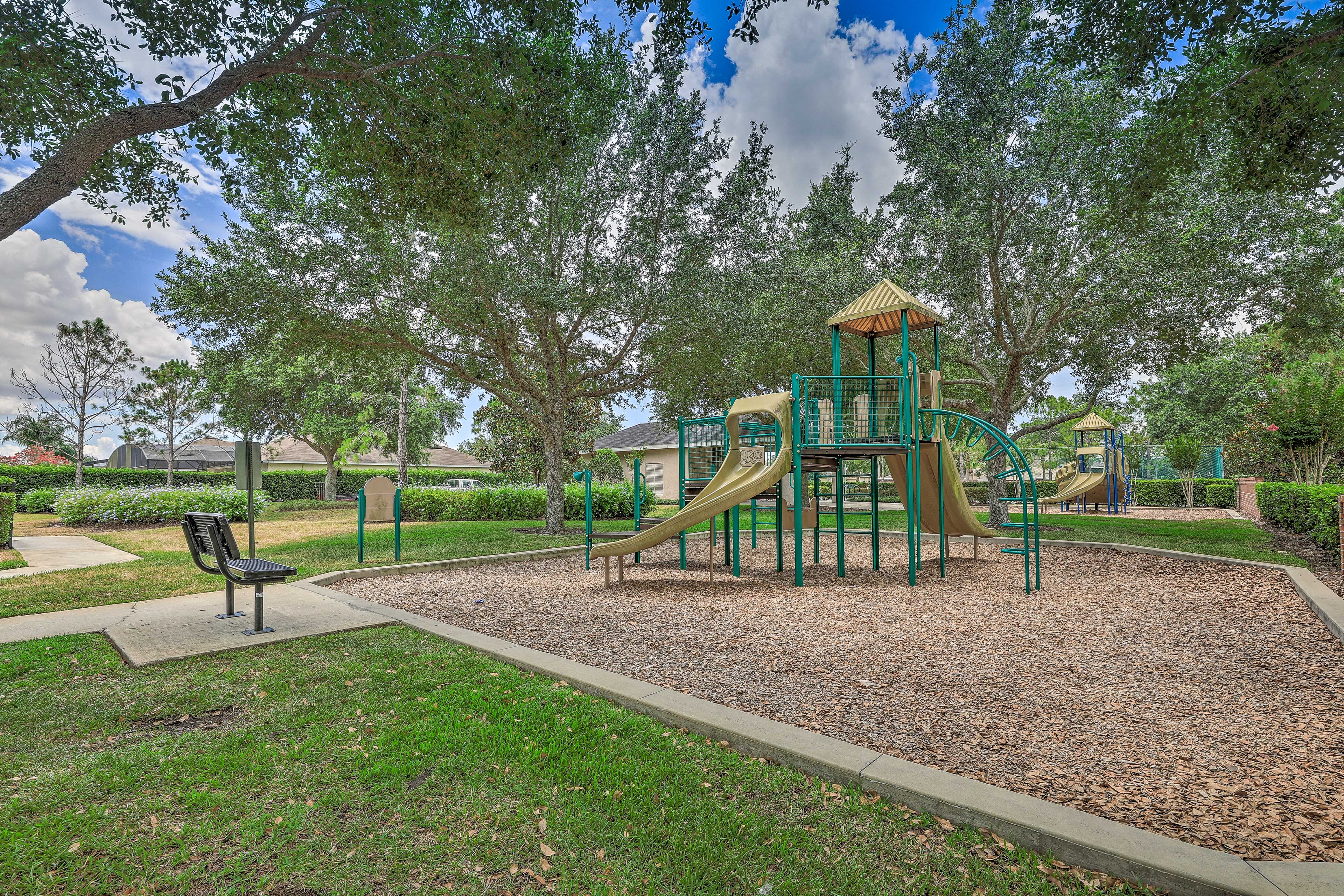 The kids will love playing on the playground.