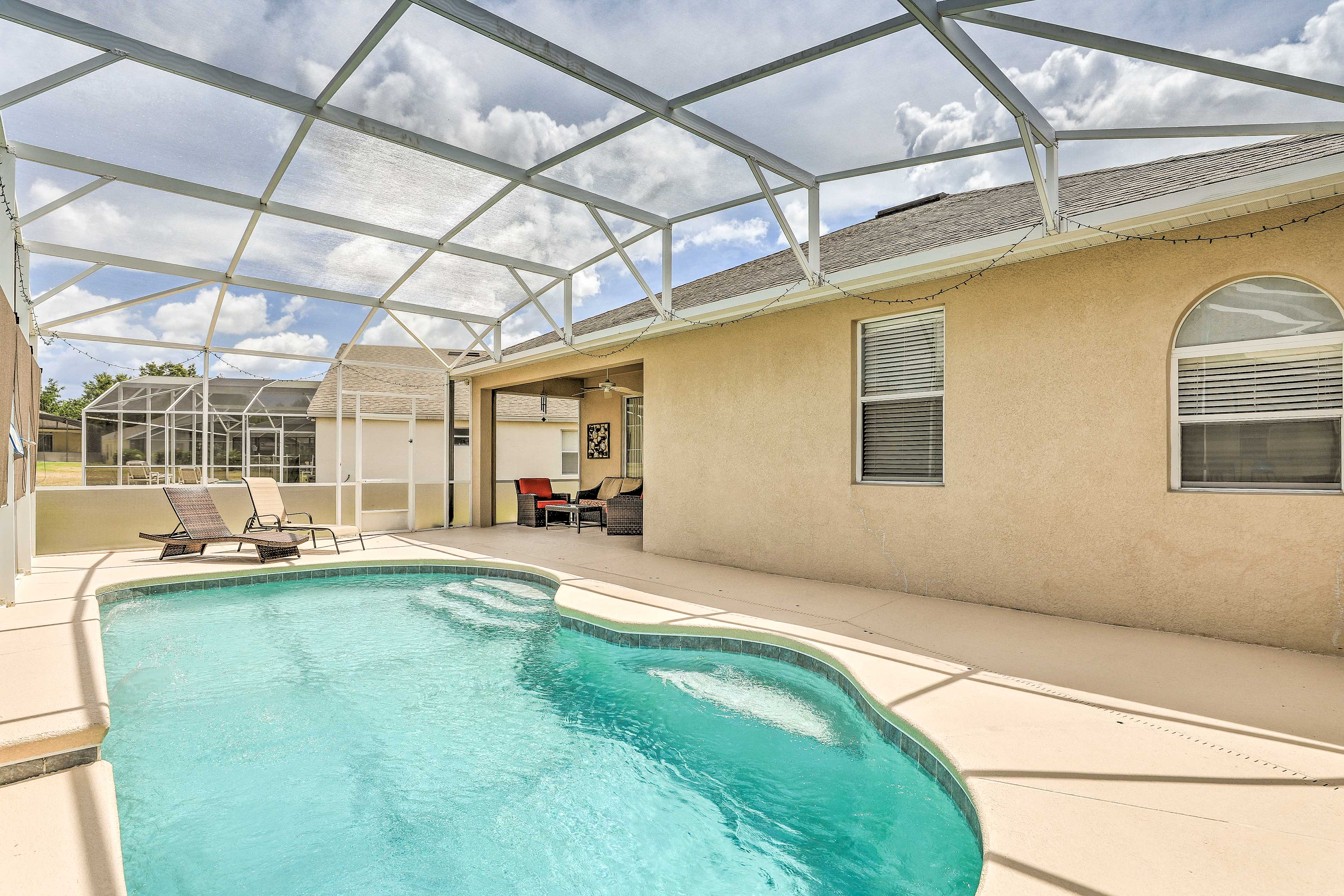 This Davenport, Florida home features a private pool!