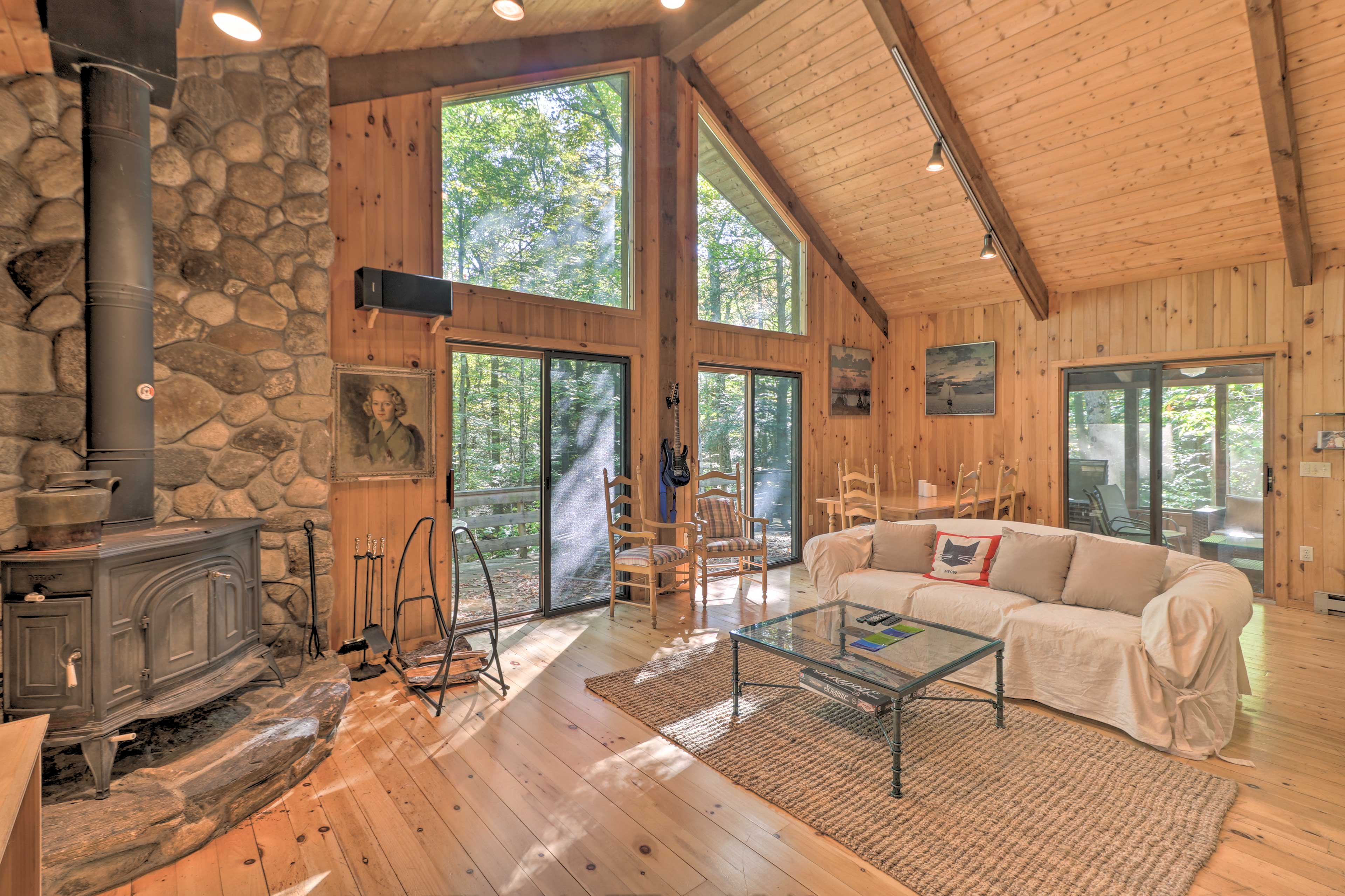 Cozy up inside this vacation rental cabin!