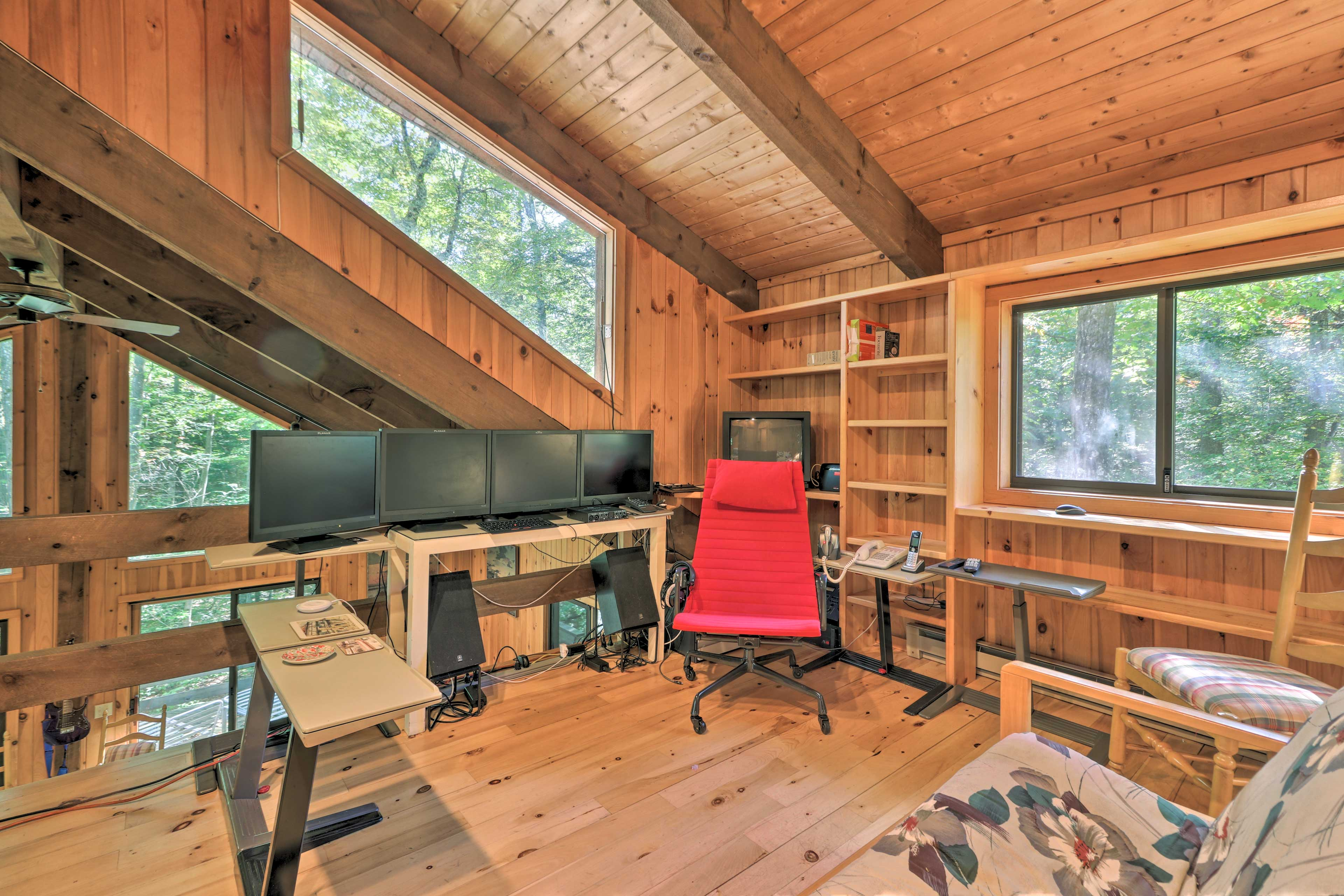 Get some work done in the lofted office!