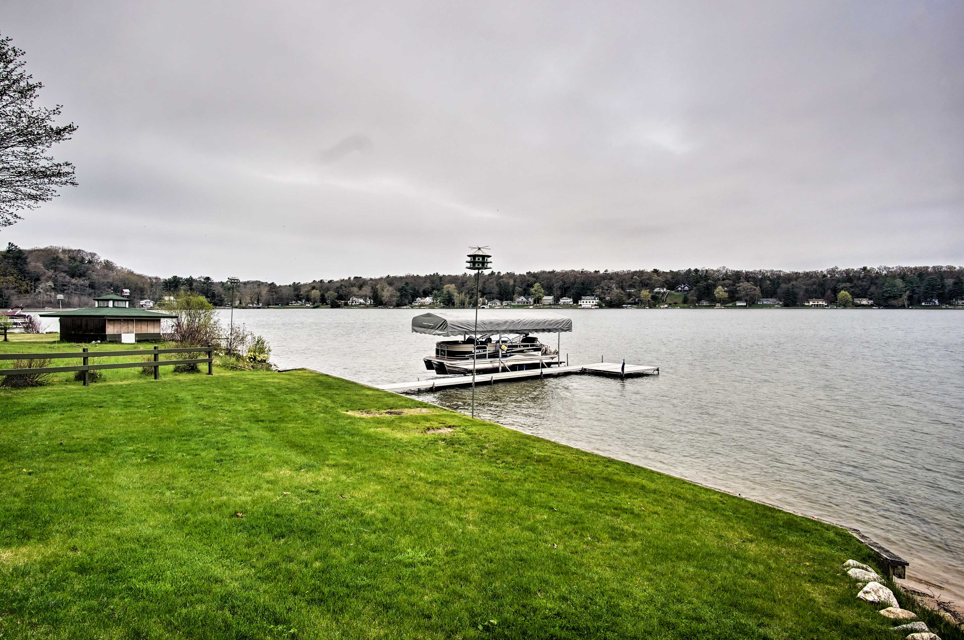 Easily dock your boat at the home's private pier!