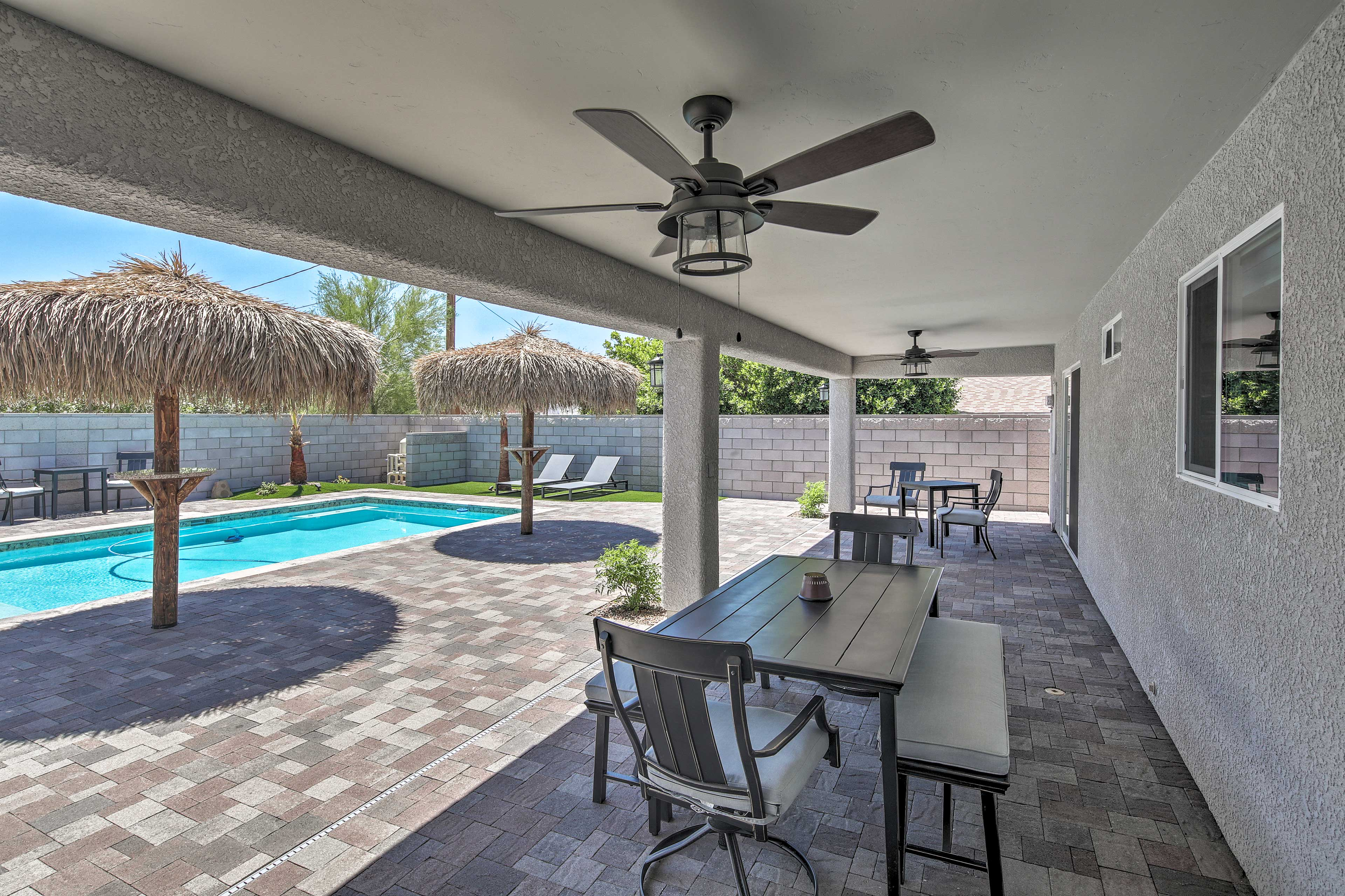 Enjoy a personal paradise in the backyard.