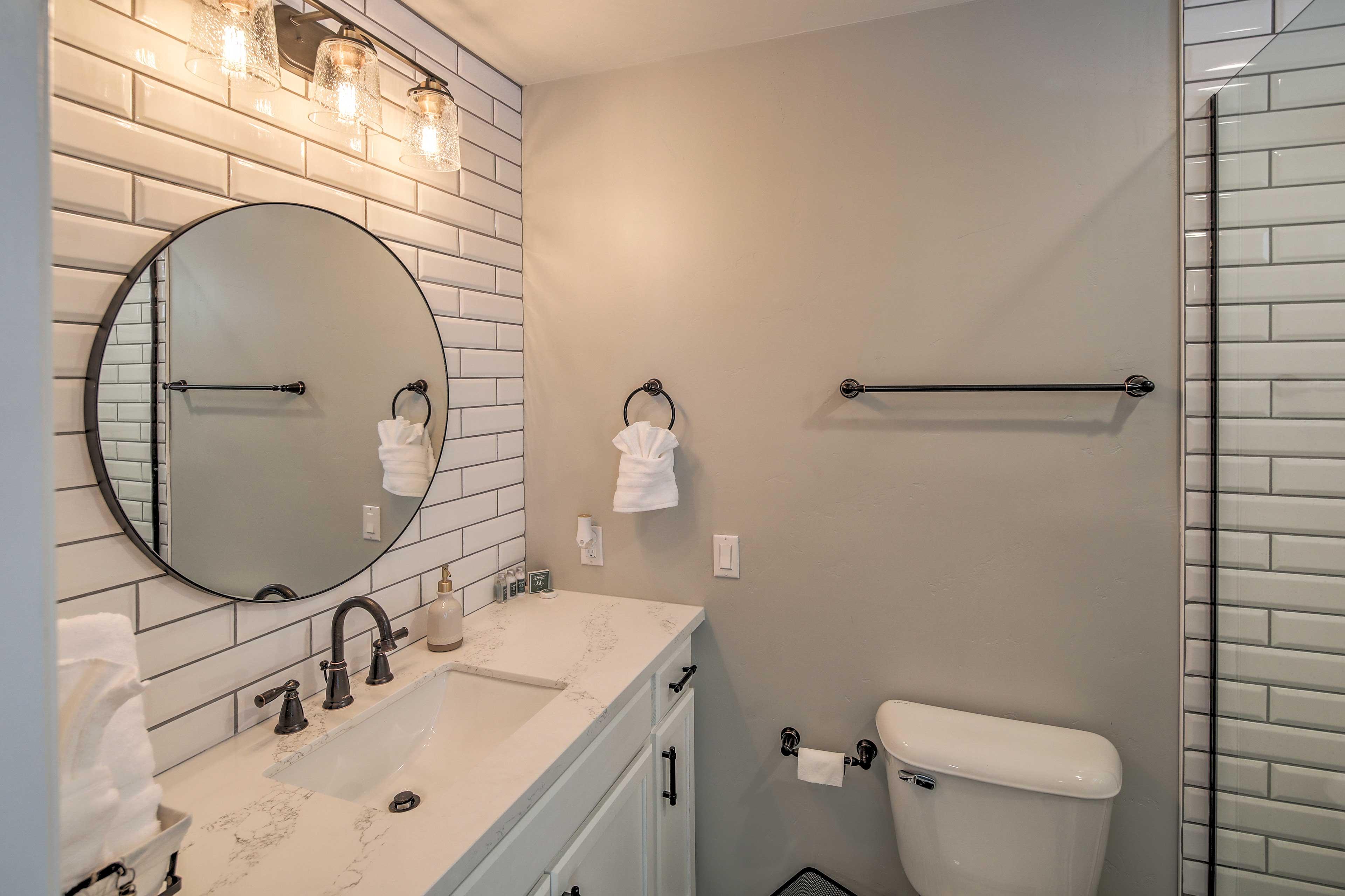 Enjoy complimentary toiletries.