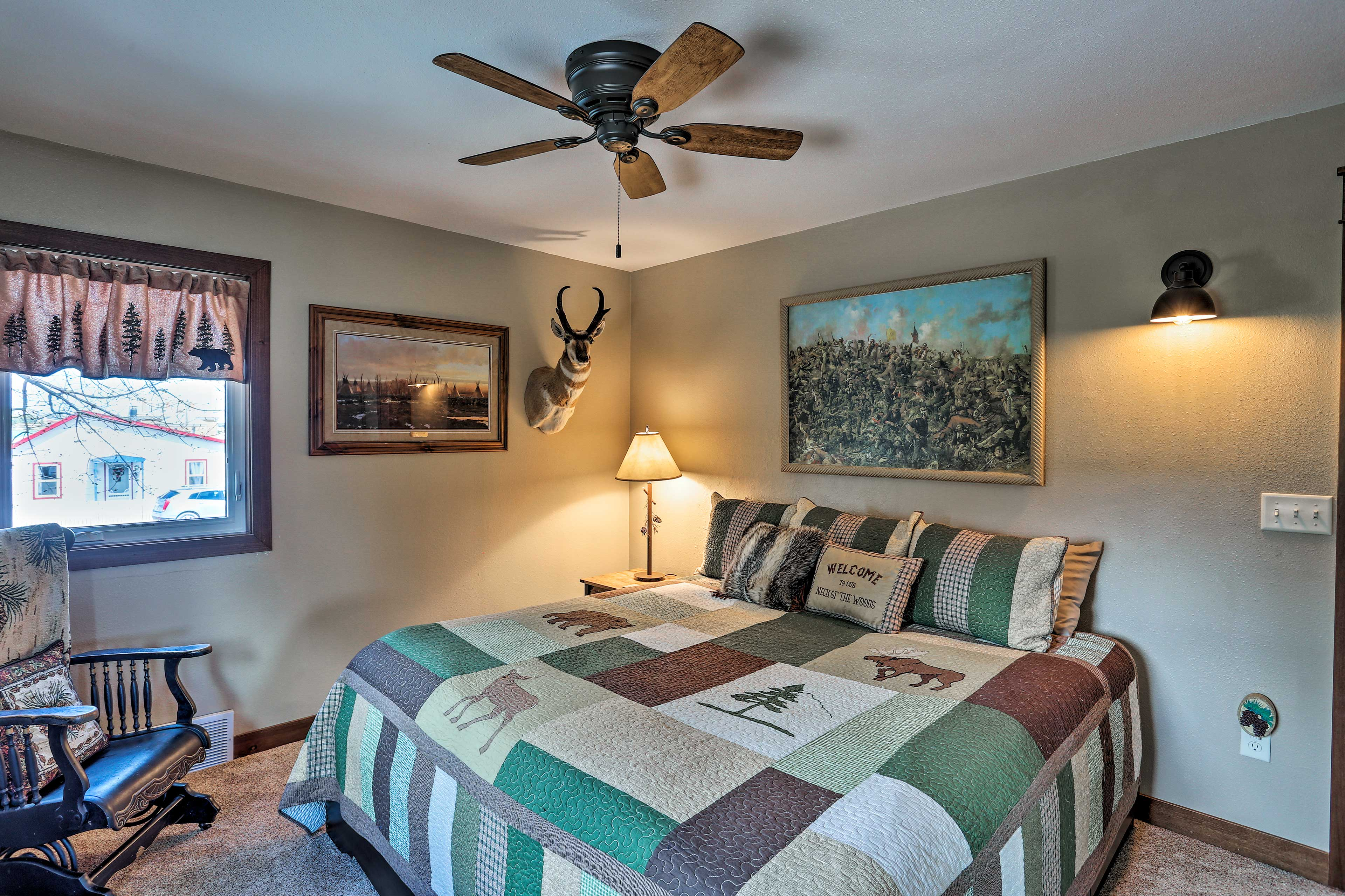 Another king bed can be found in the second bedroom.