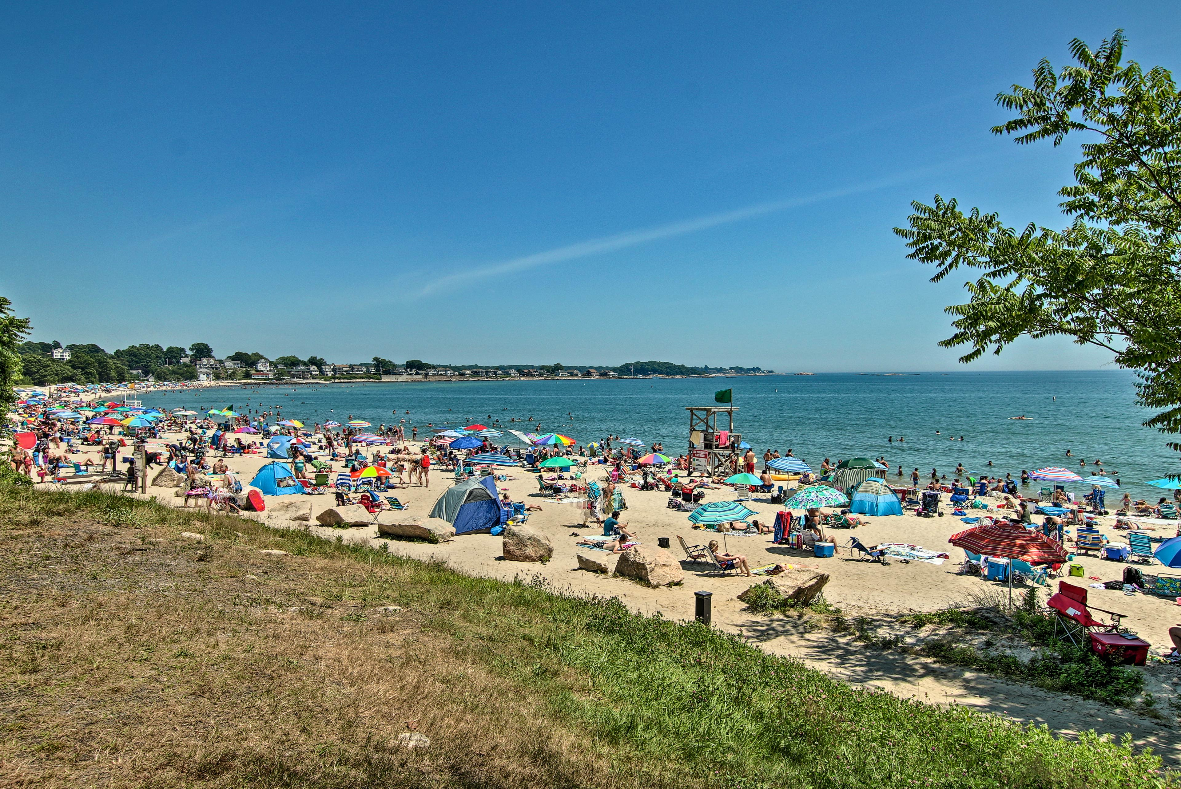 Soak up the sun at the beach near to this Niantic vacation rental!