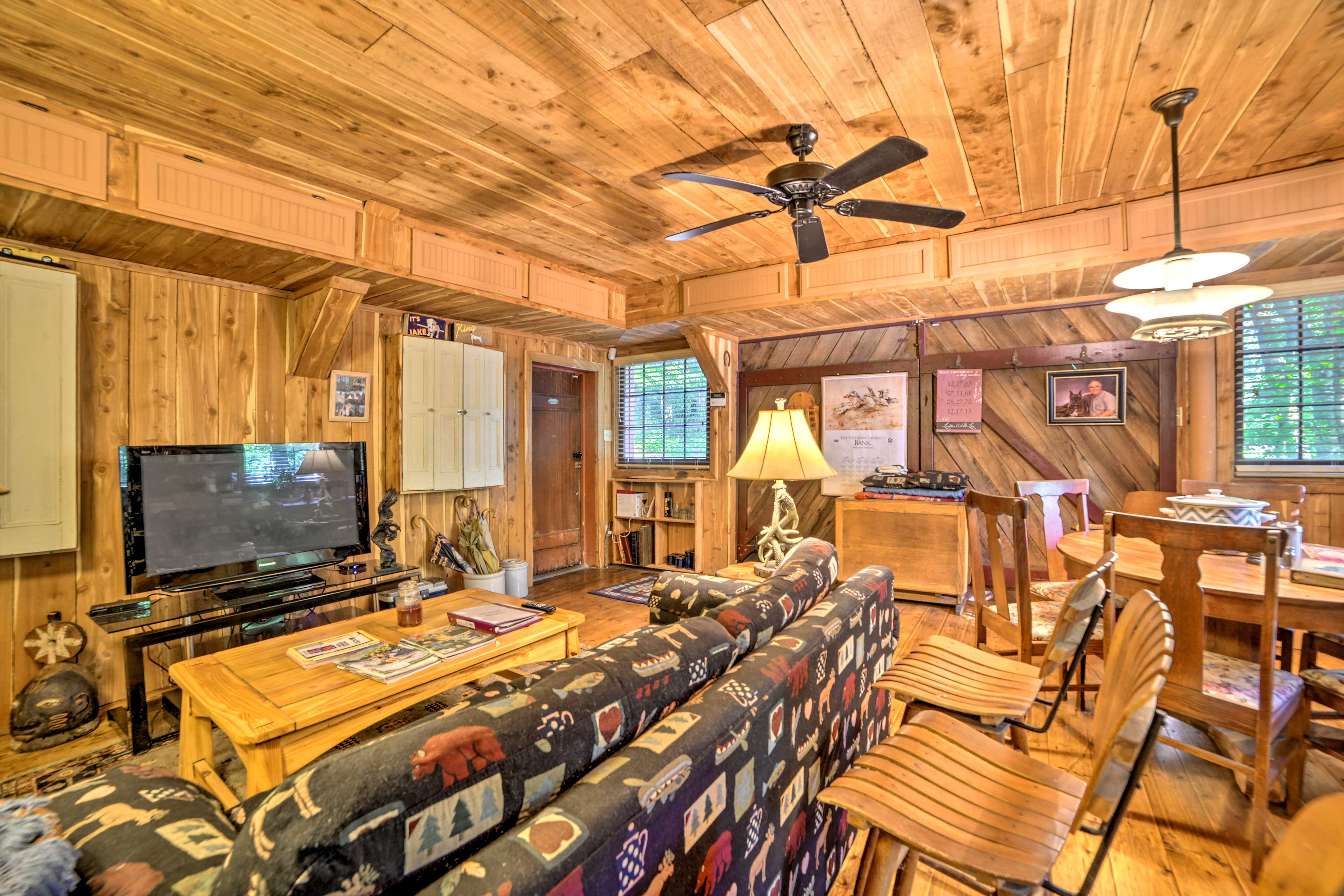 Step inside and unwind among the rustic decor and modern amenities.