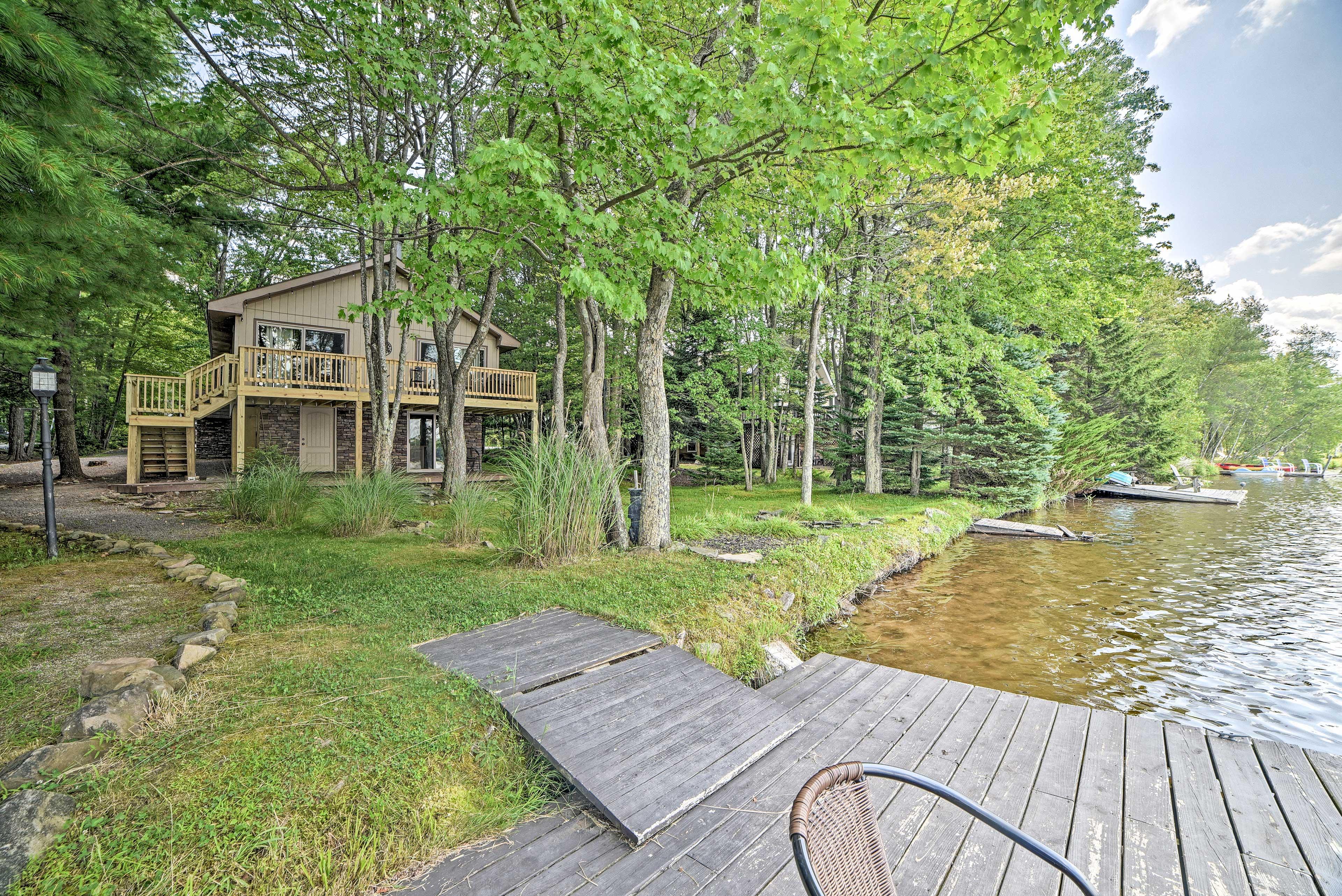 Pocono Lake Vacation Rental | 3BR | 2.5BA | 1,724 Sq Ft | 2 Stories