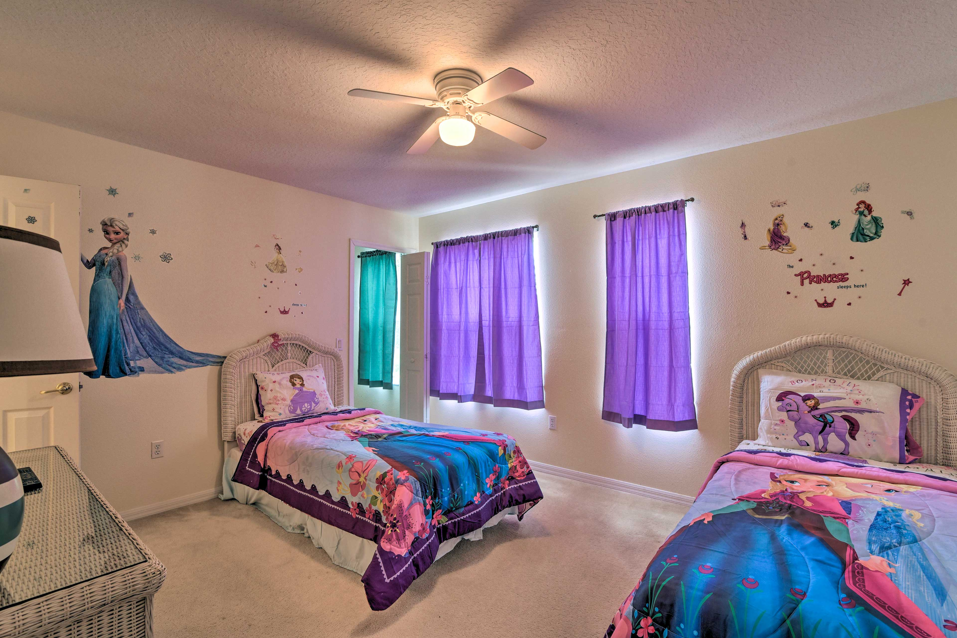 Perfect for kids, this room sleeps 2 in twin beds.