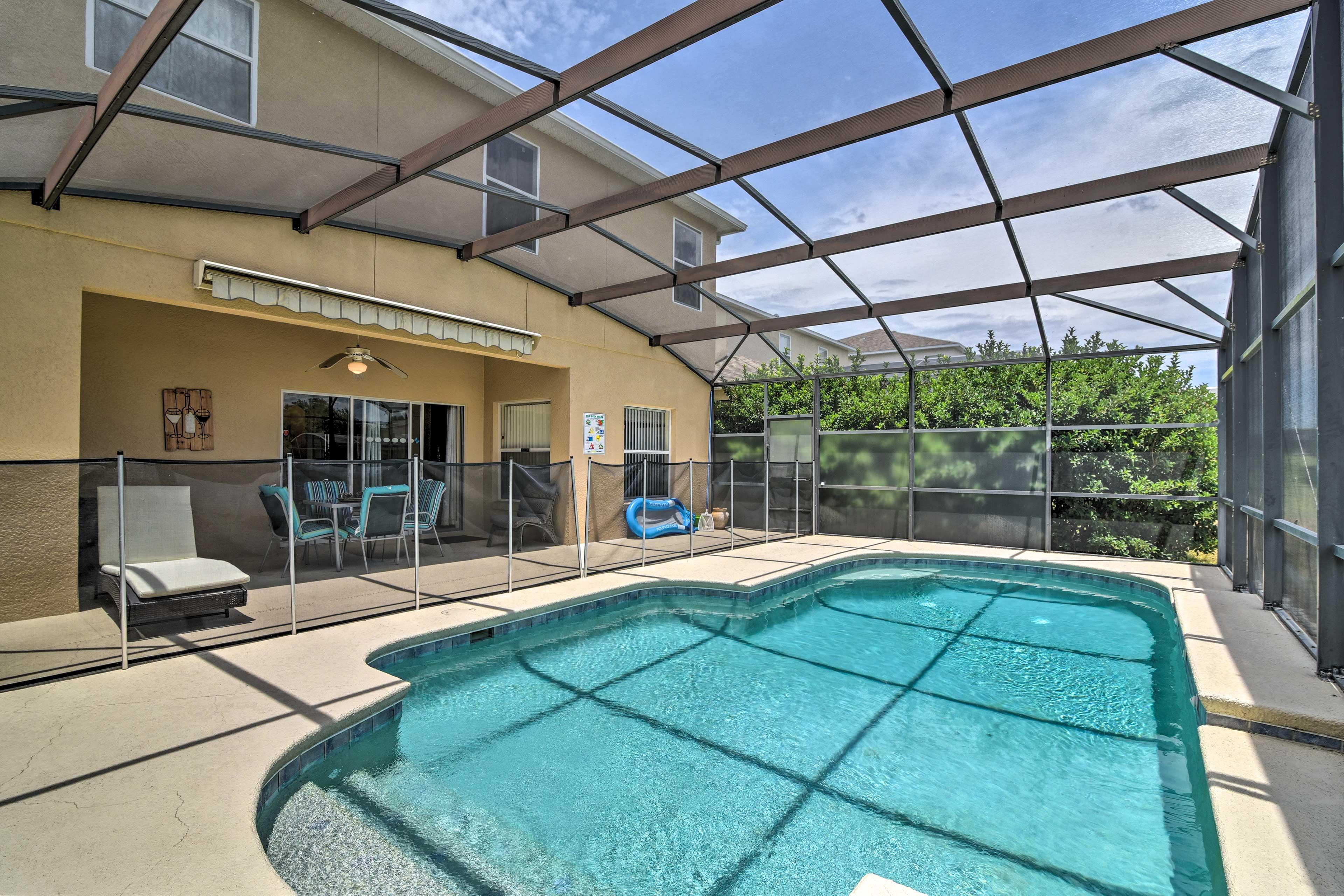 Make a splash in the private pool.