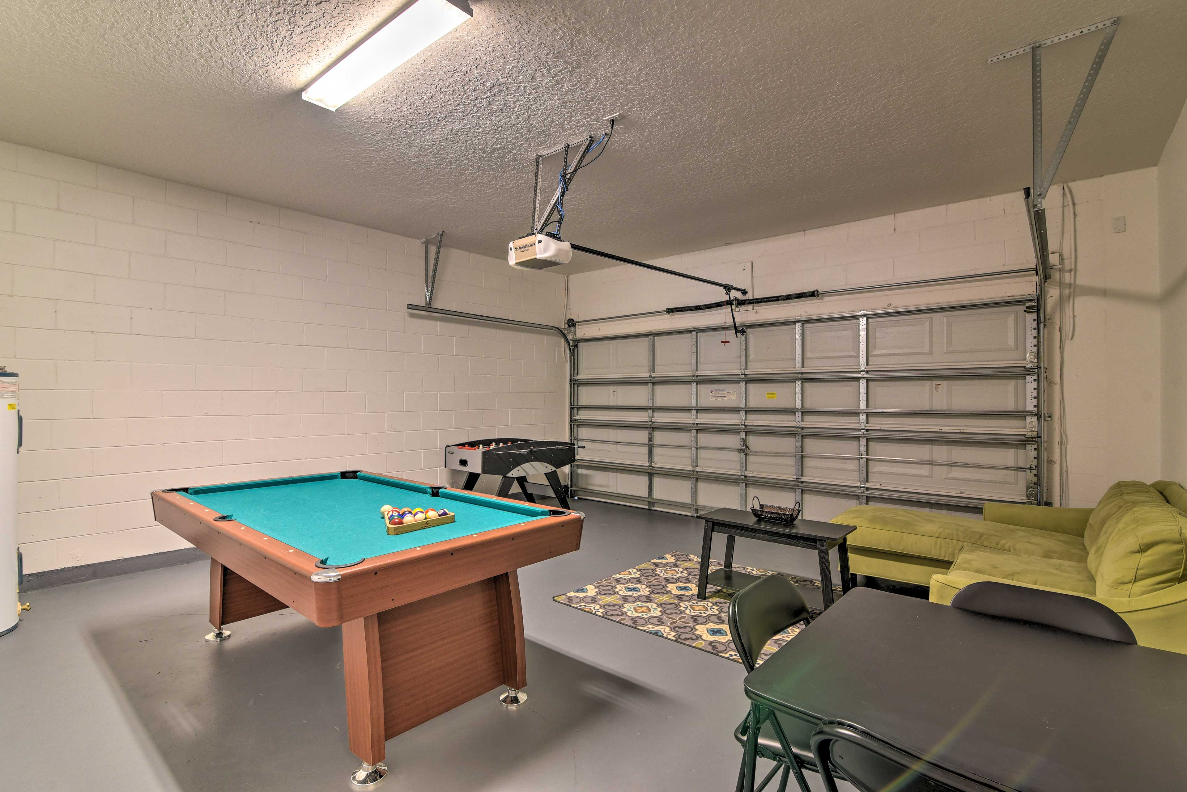 Show off your skills in the game room.