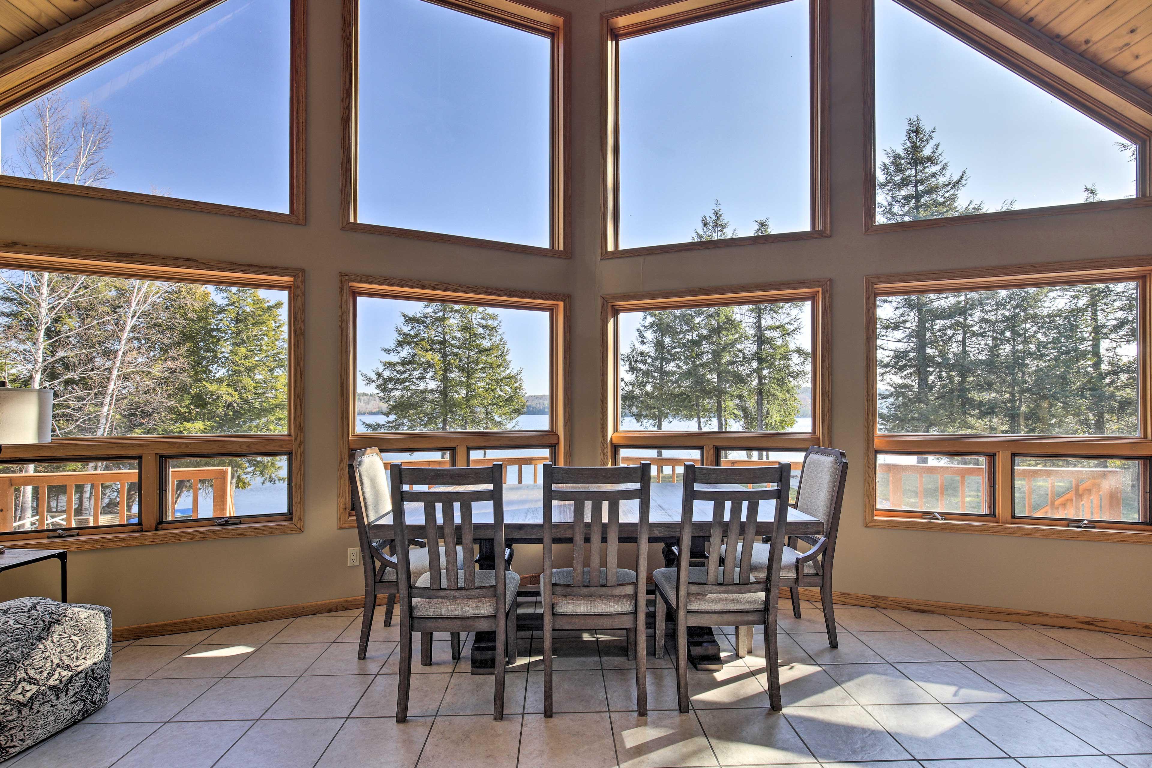 Dining Area | Floor-to-Ceiling Windows