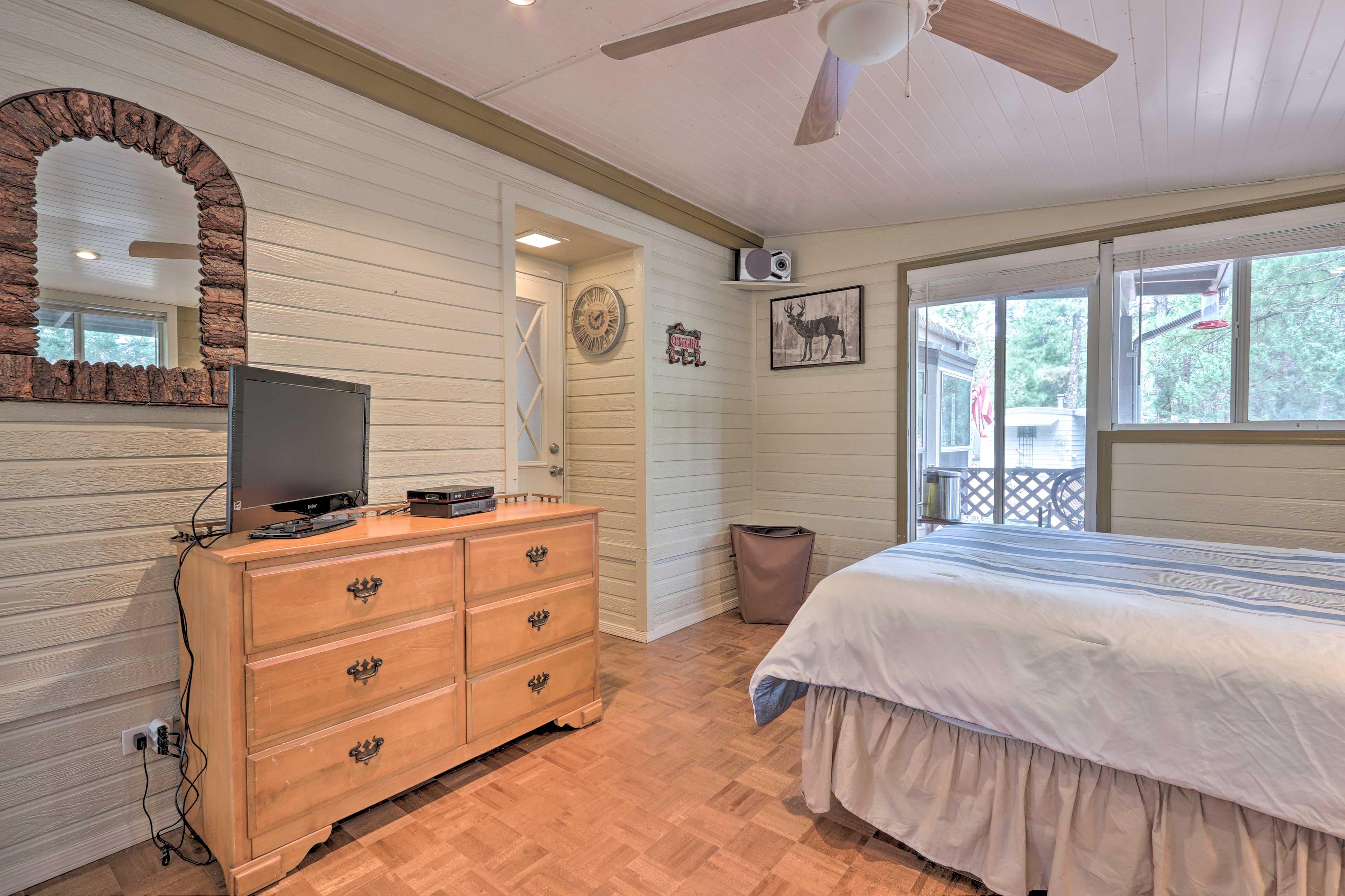 Natural light fills the second bedroom each morning.
