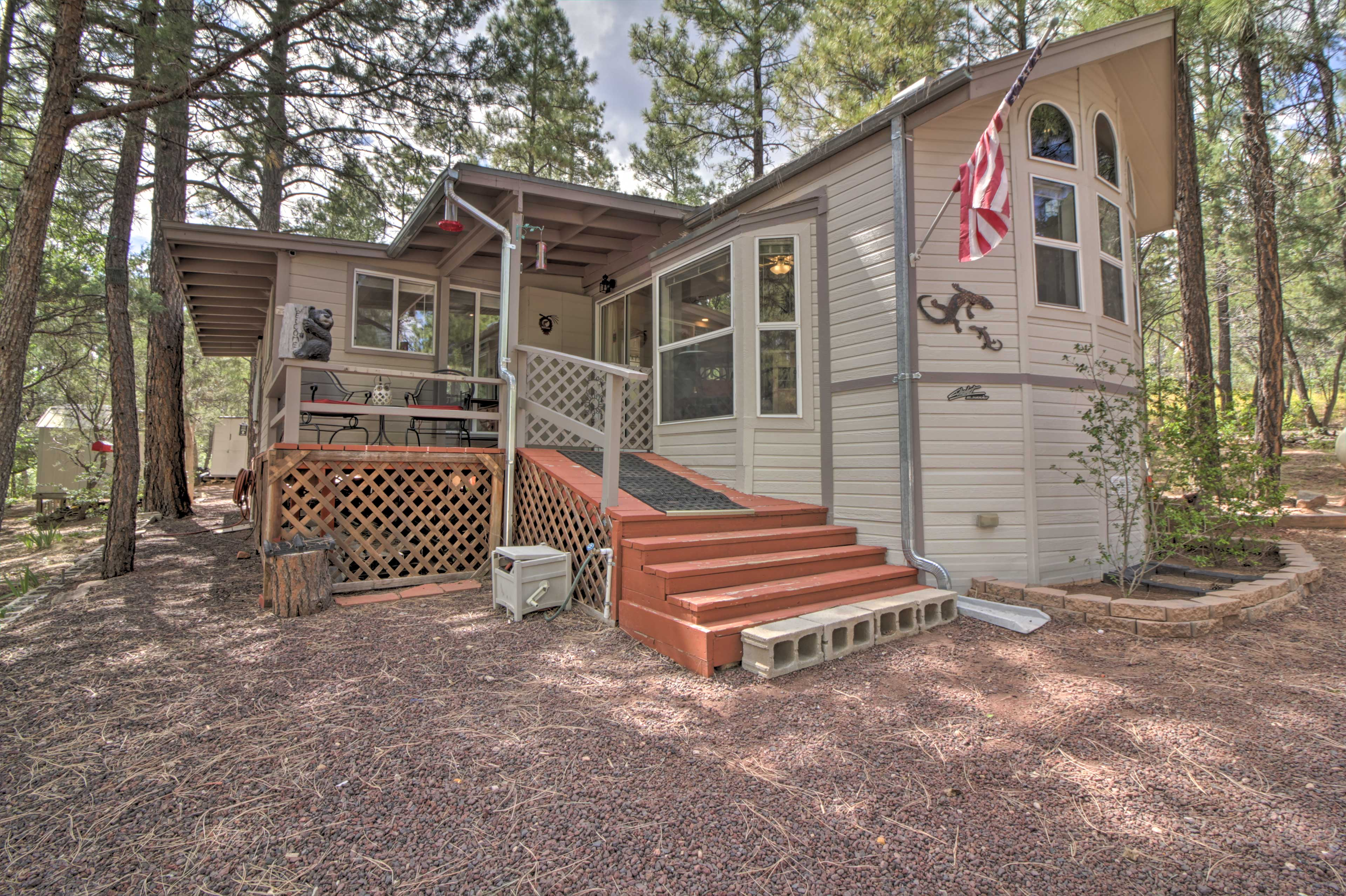 This 2-bed, 1-bath vacation rental can comfortably sleep up to 6 travelers!