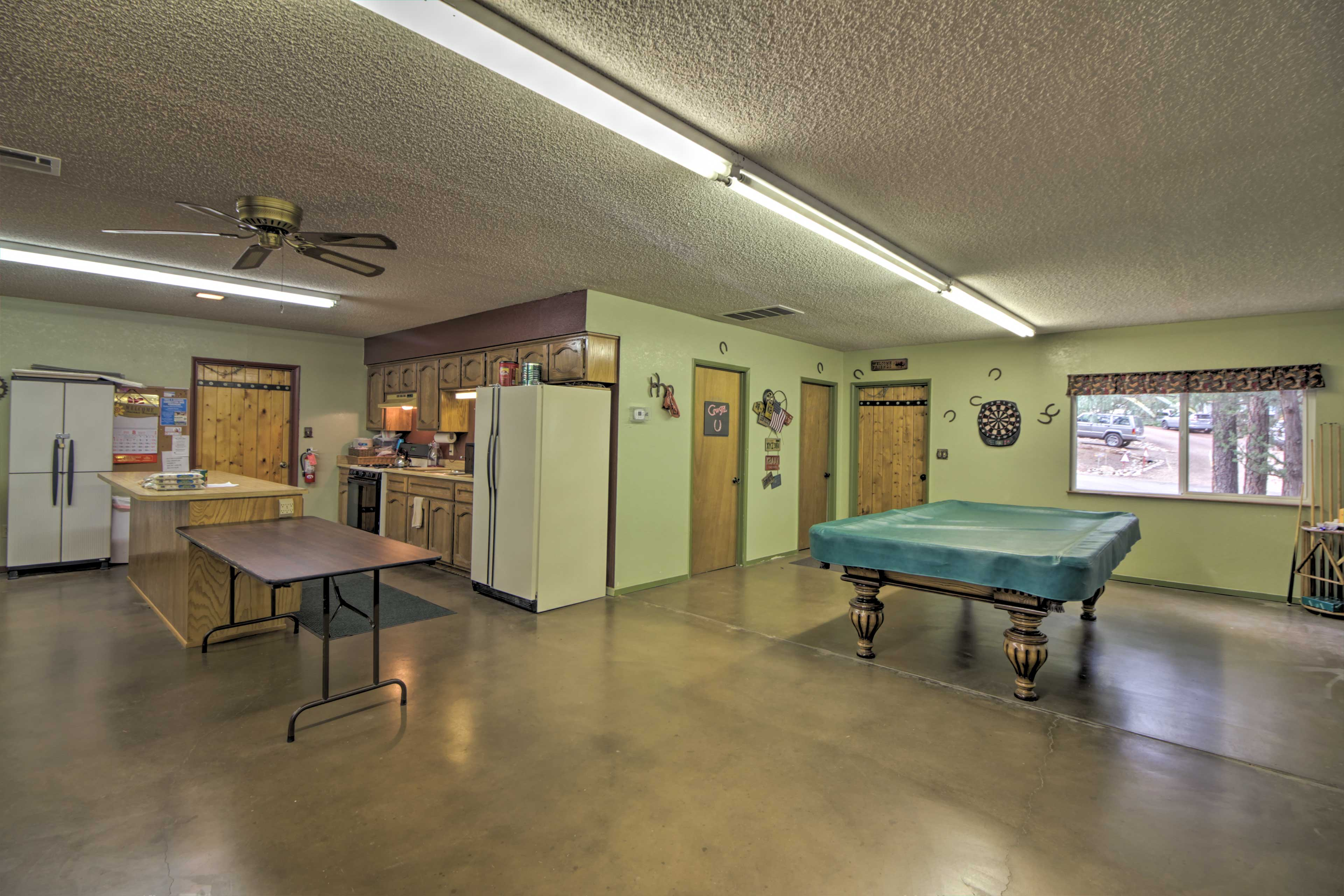 Play some pool or whip up a meal in the fully equipped kitchen.