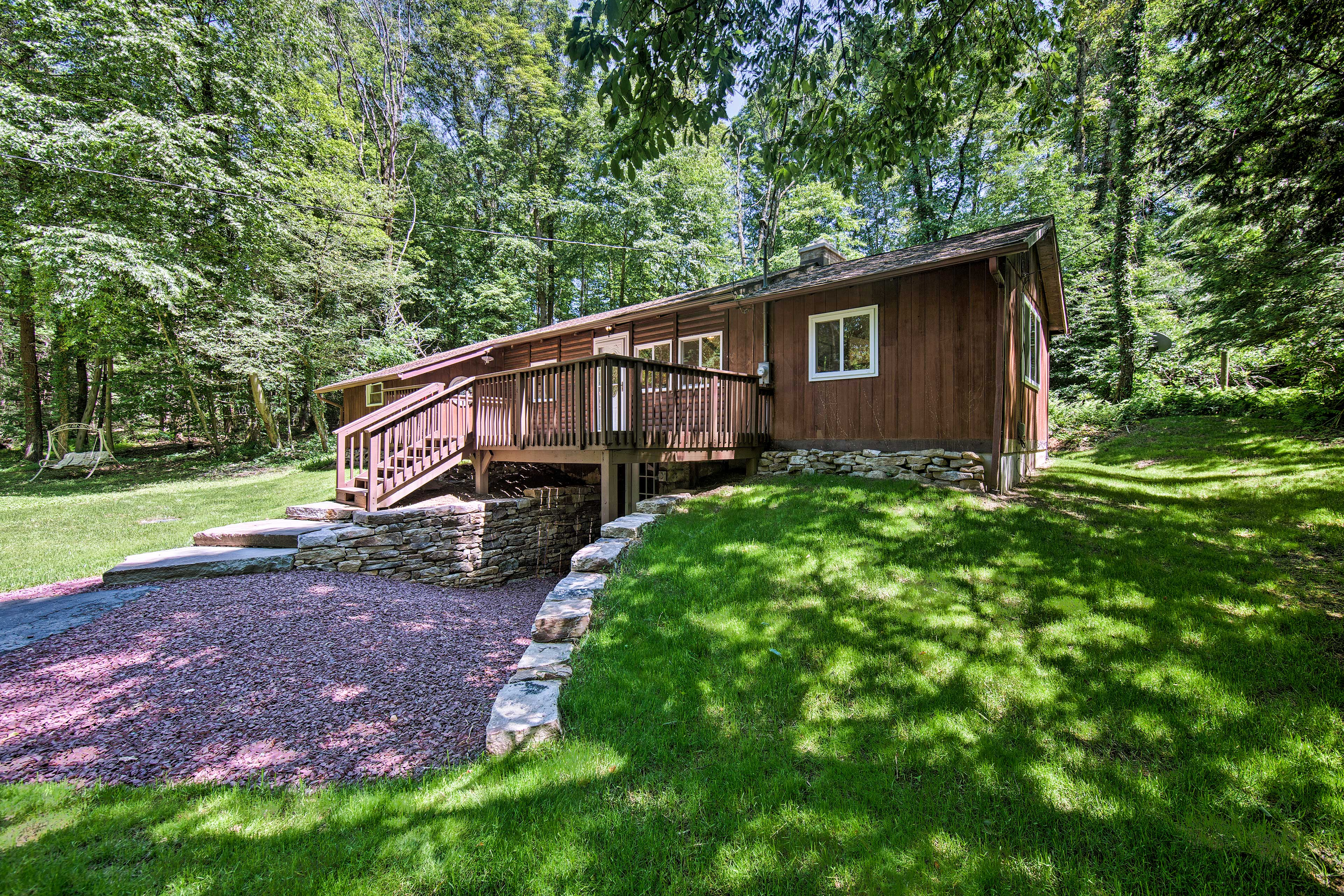 This cabin is located near hiking trails, hunting lands, and multiple parks!