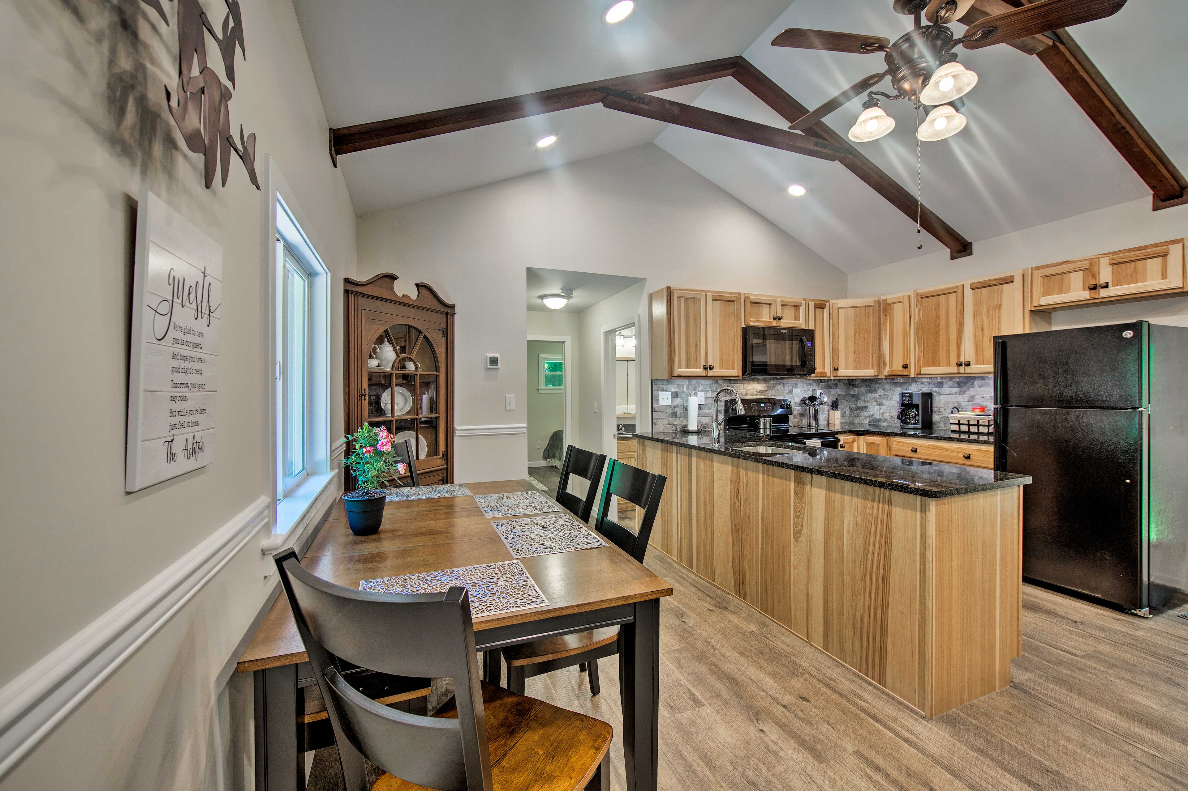 The open floor plan makes the home feel open and inviting!