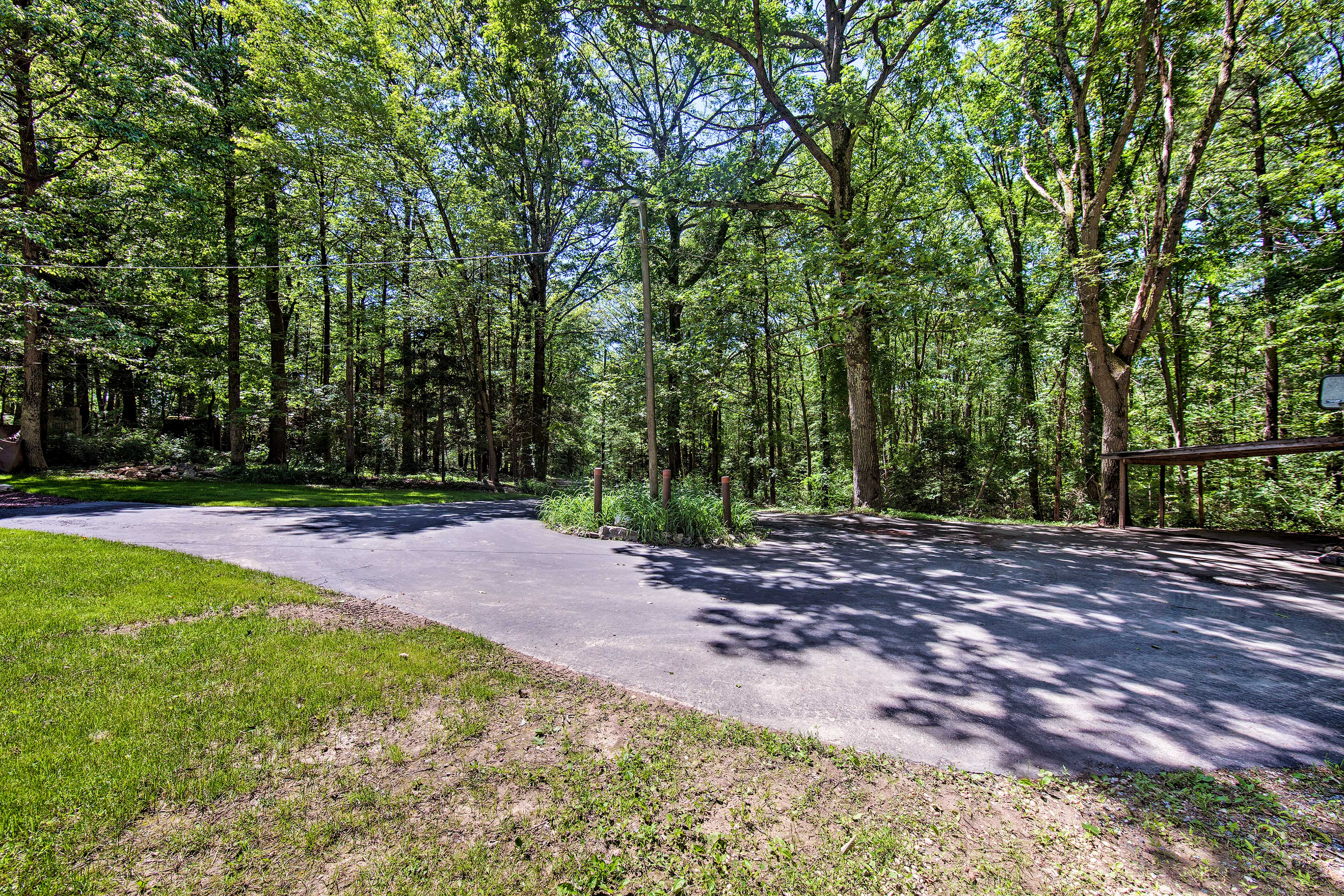 Ample driveway parking is available on site.