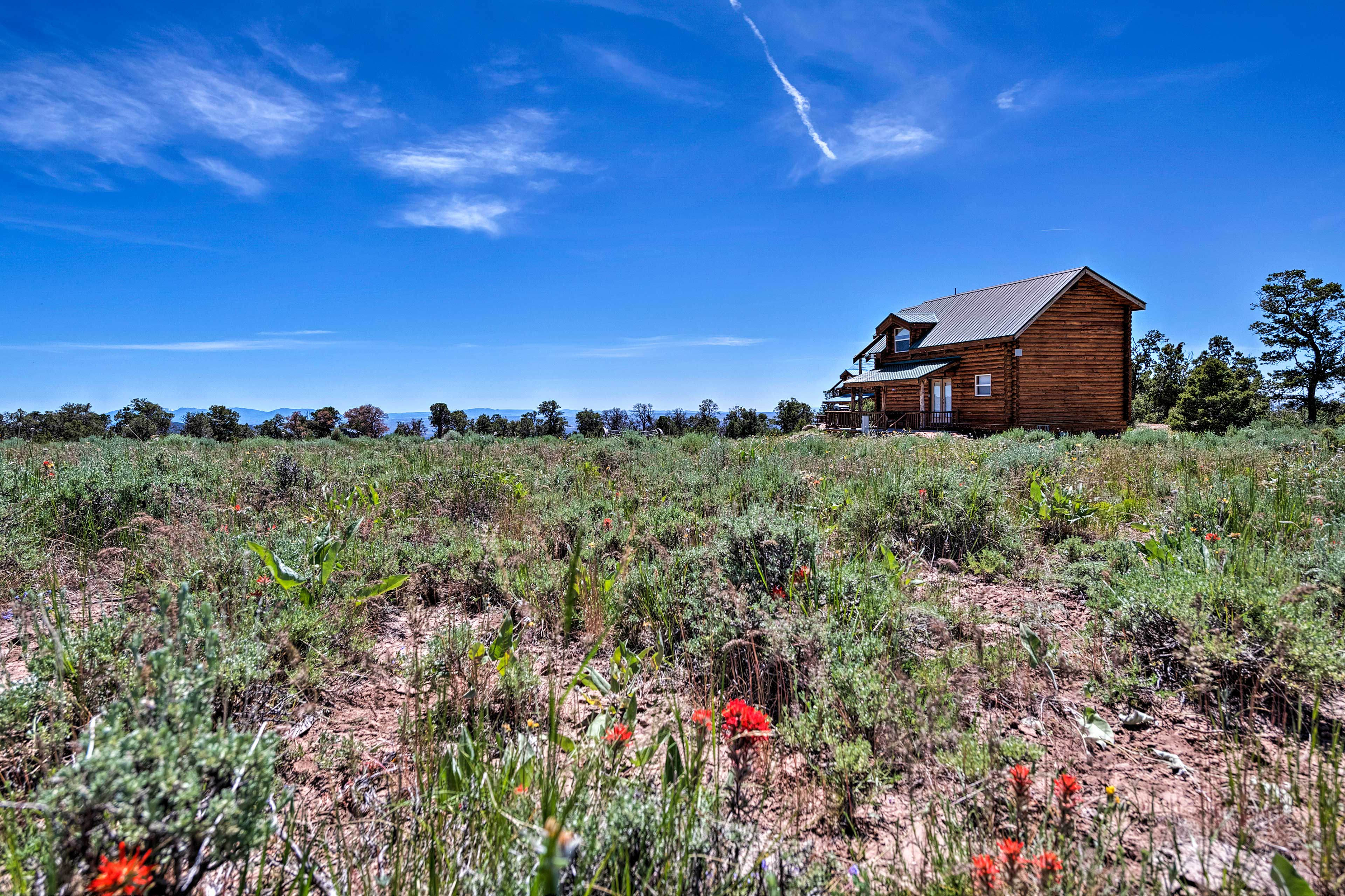 Bring the family to explore Utah's beauty from the comfort of 'Pioneer Cabin 1!'
