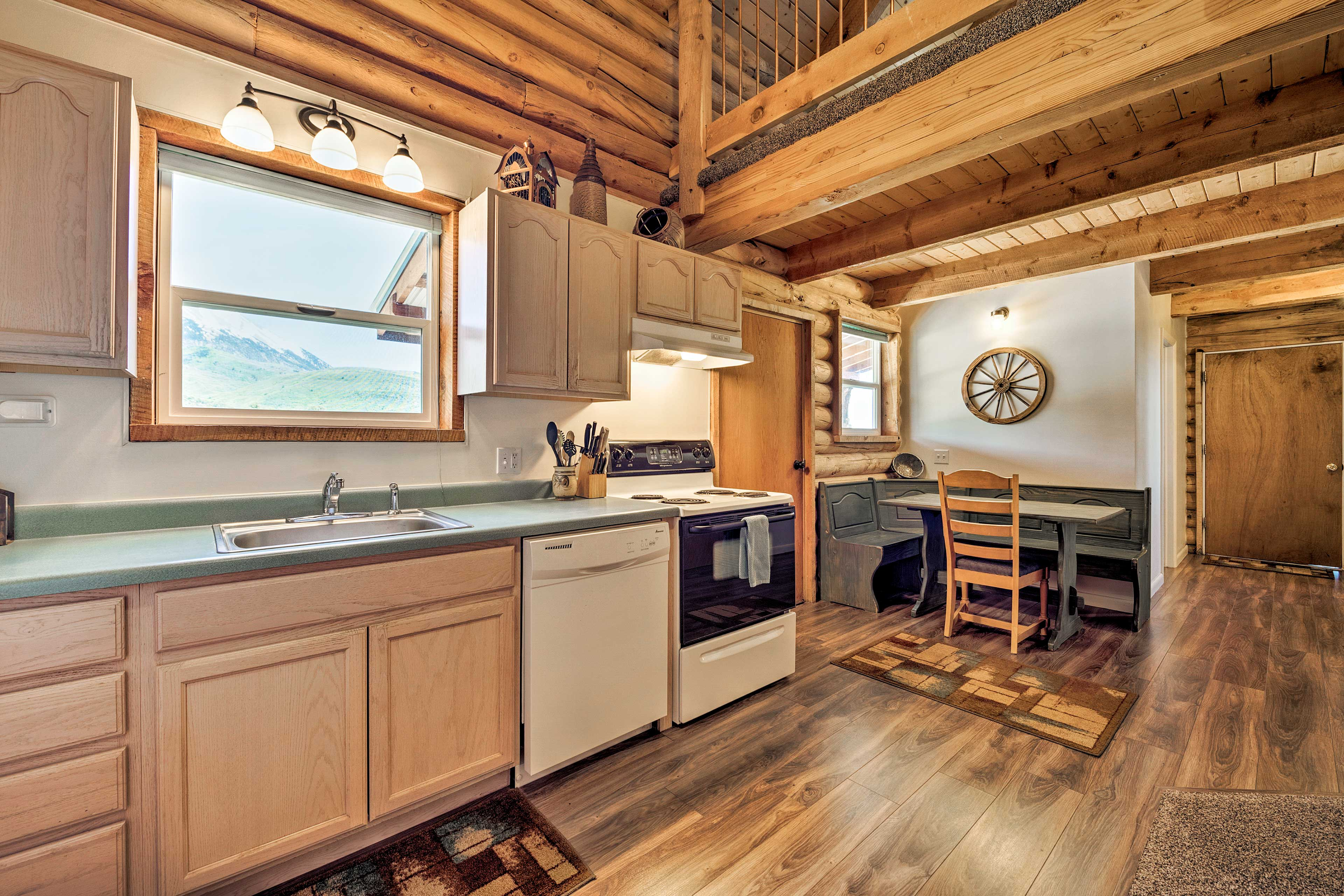 Open the kitchen window to let the fresh air breeze inside as you cook.
