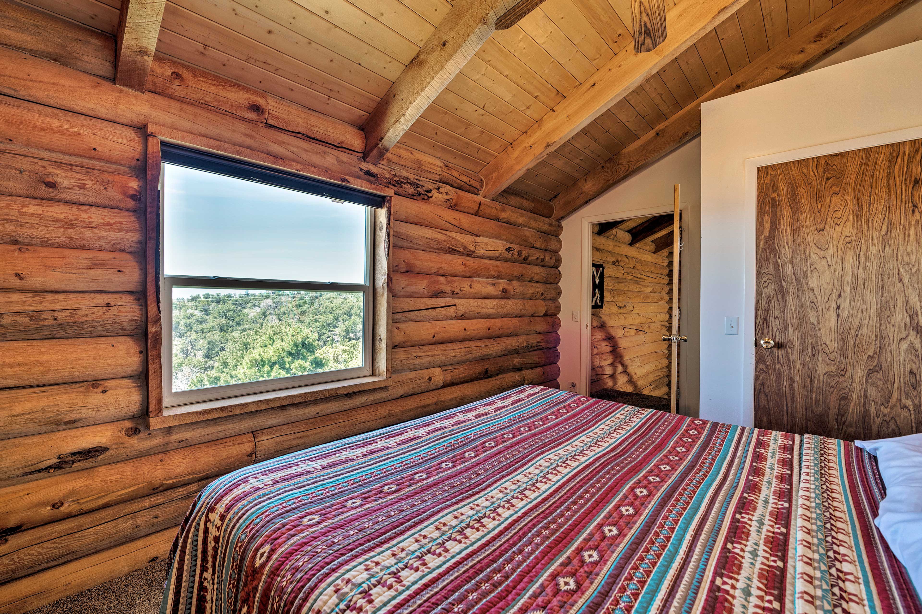 Wake up to views of the nearby mountain ranges.