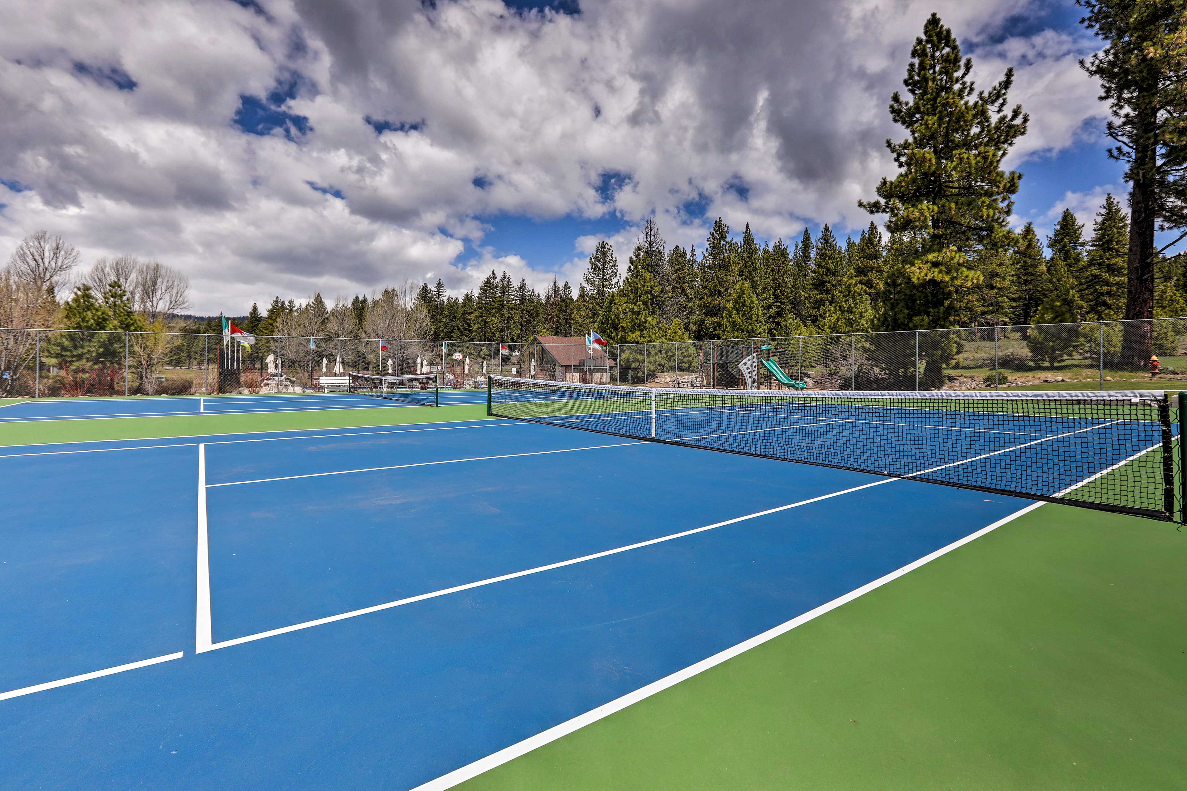 Play a few tennis matches during your stay.