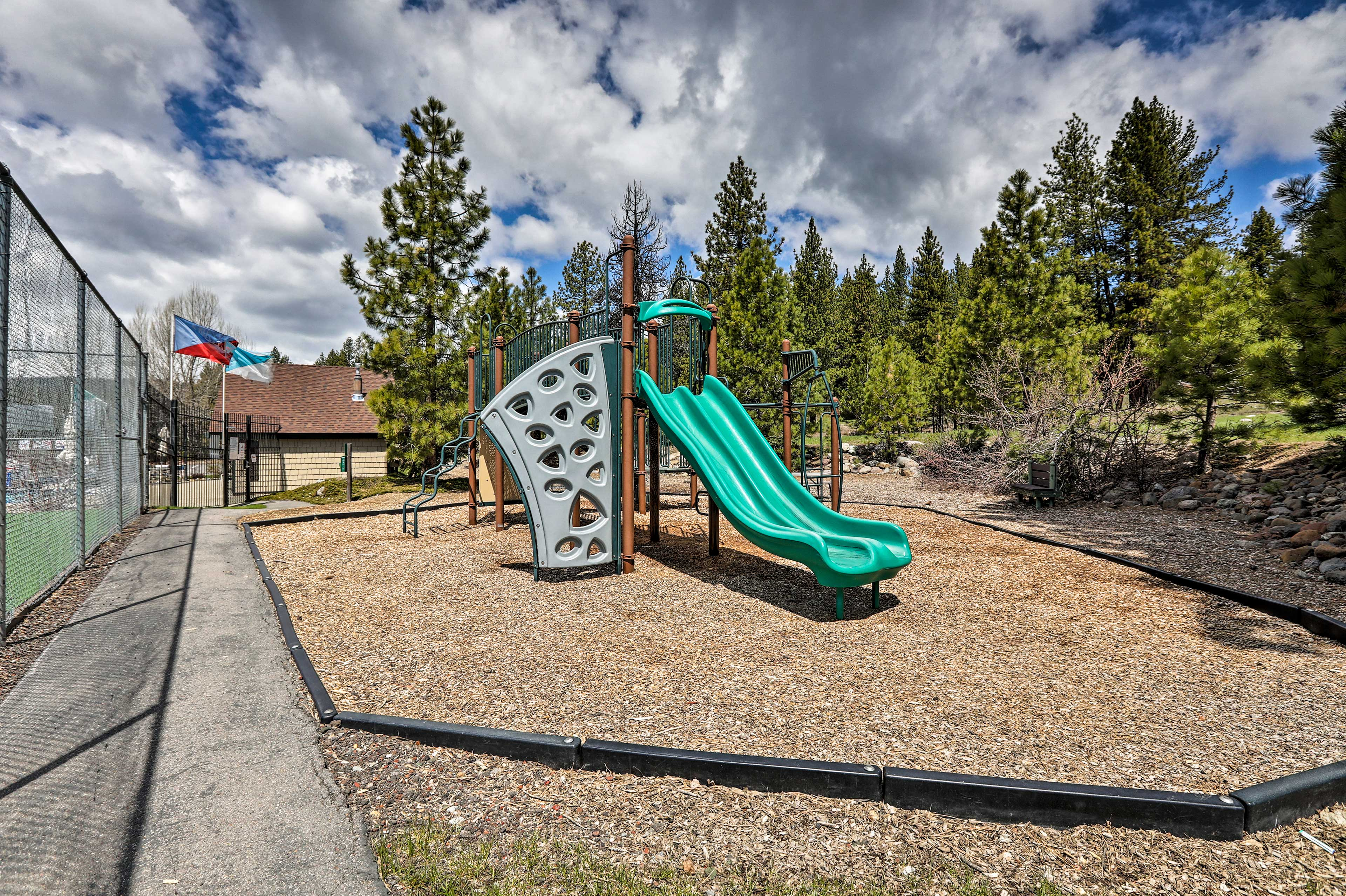 Kids will love playing on the playground.
