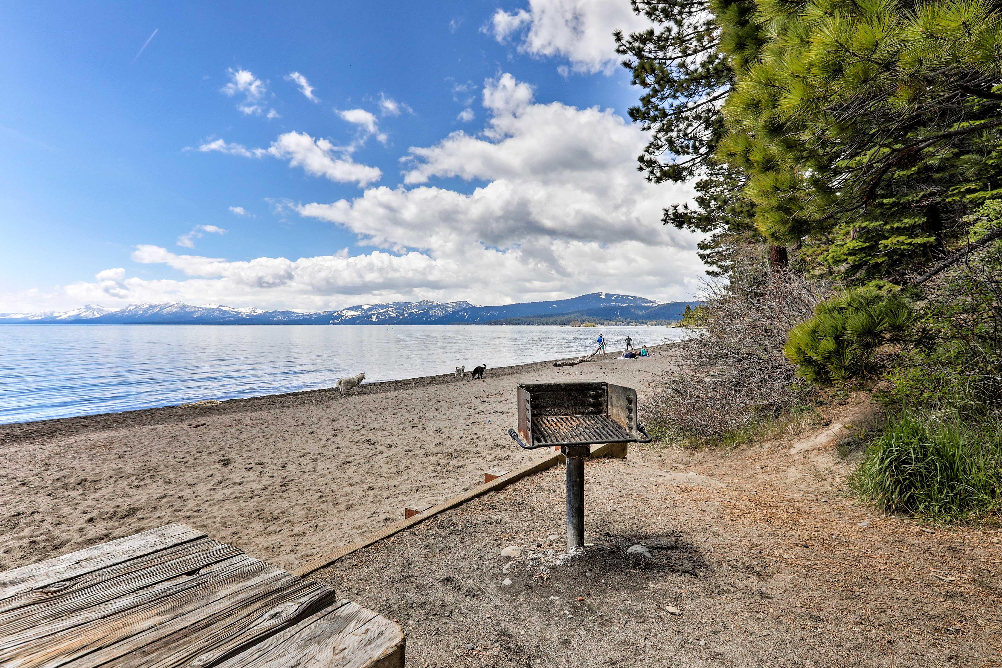 Enjoy access to a couple beaches.