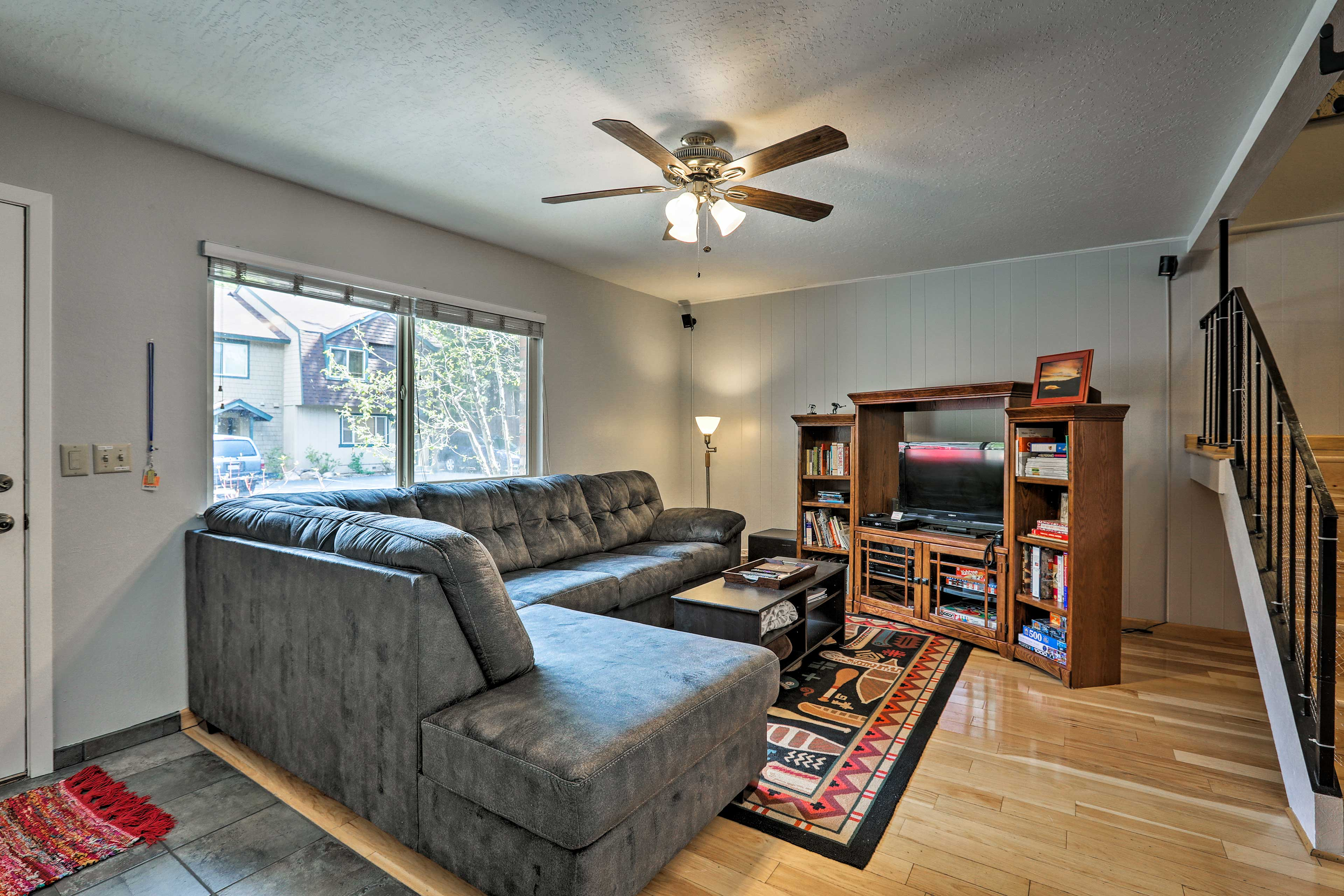 There's room for 8 people at the 3-bedroom, 2.5-bathroom property.