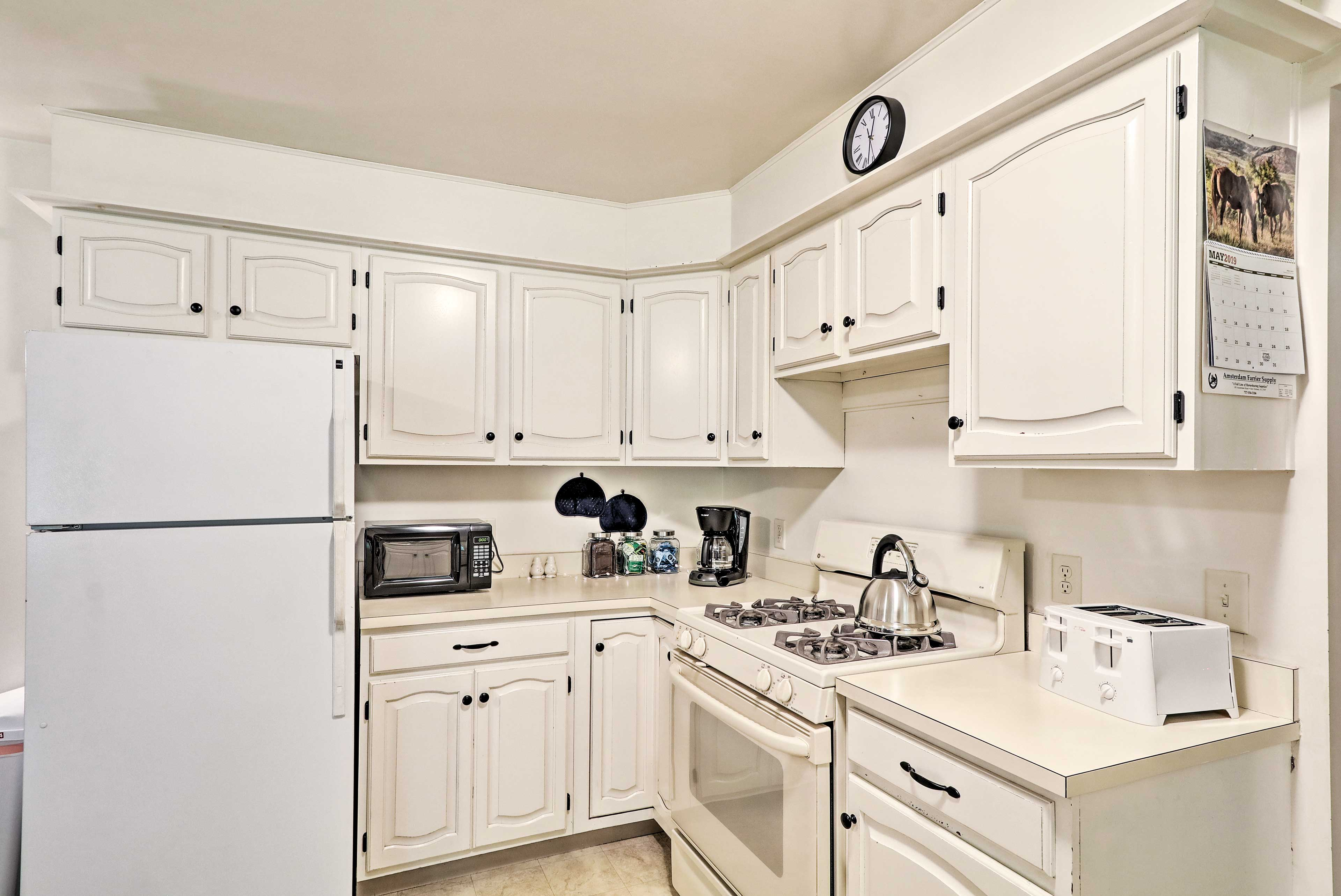 There's even a fully equipped kitchen, perfect for those on a budget.