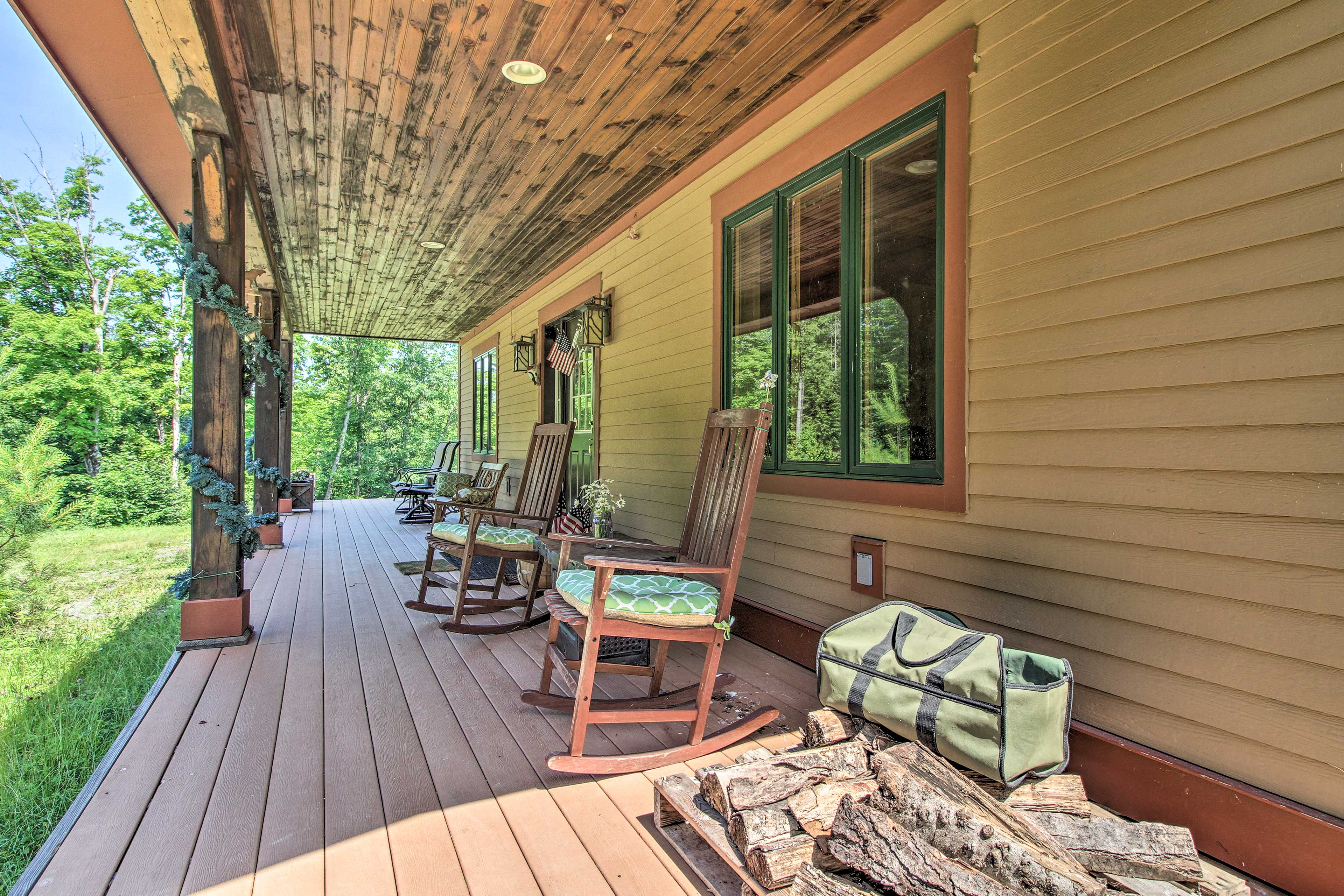 Relax on the rocking chairs.