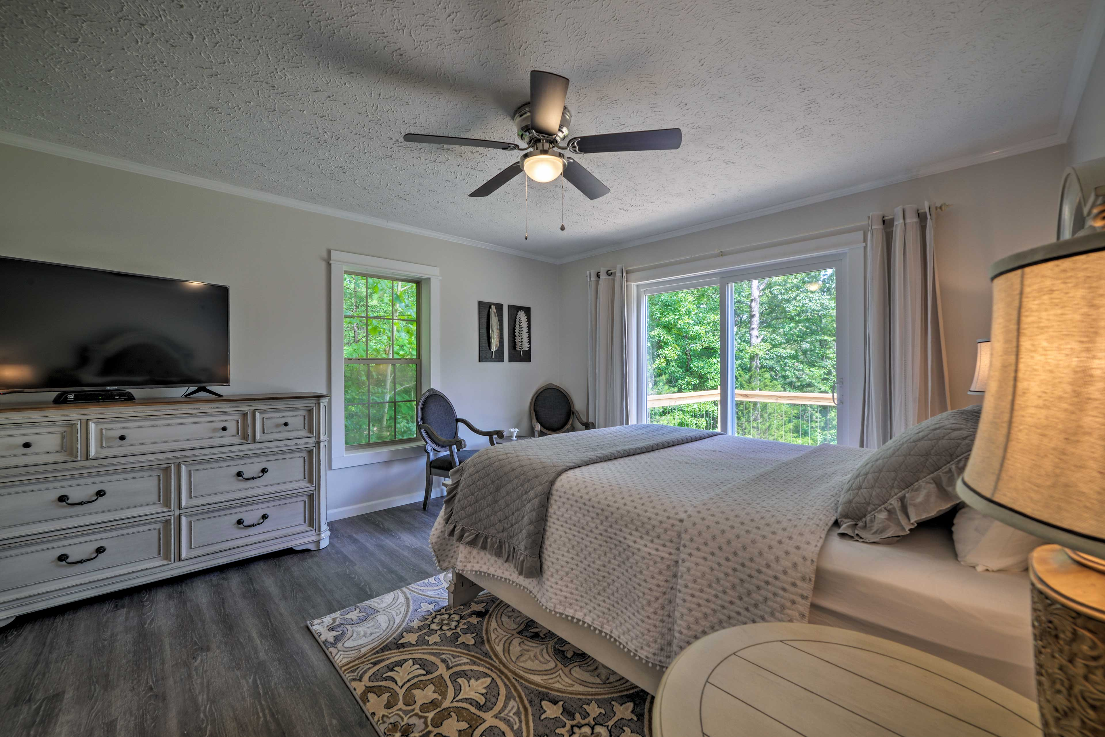 Enjoy deck access from the master bedroom.