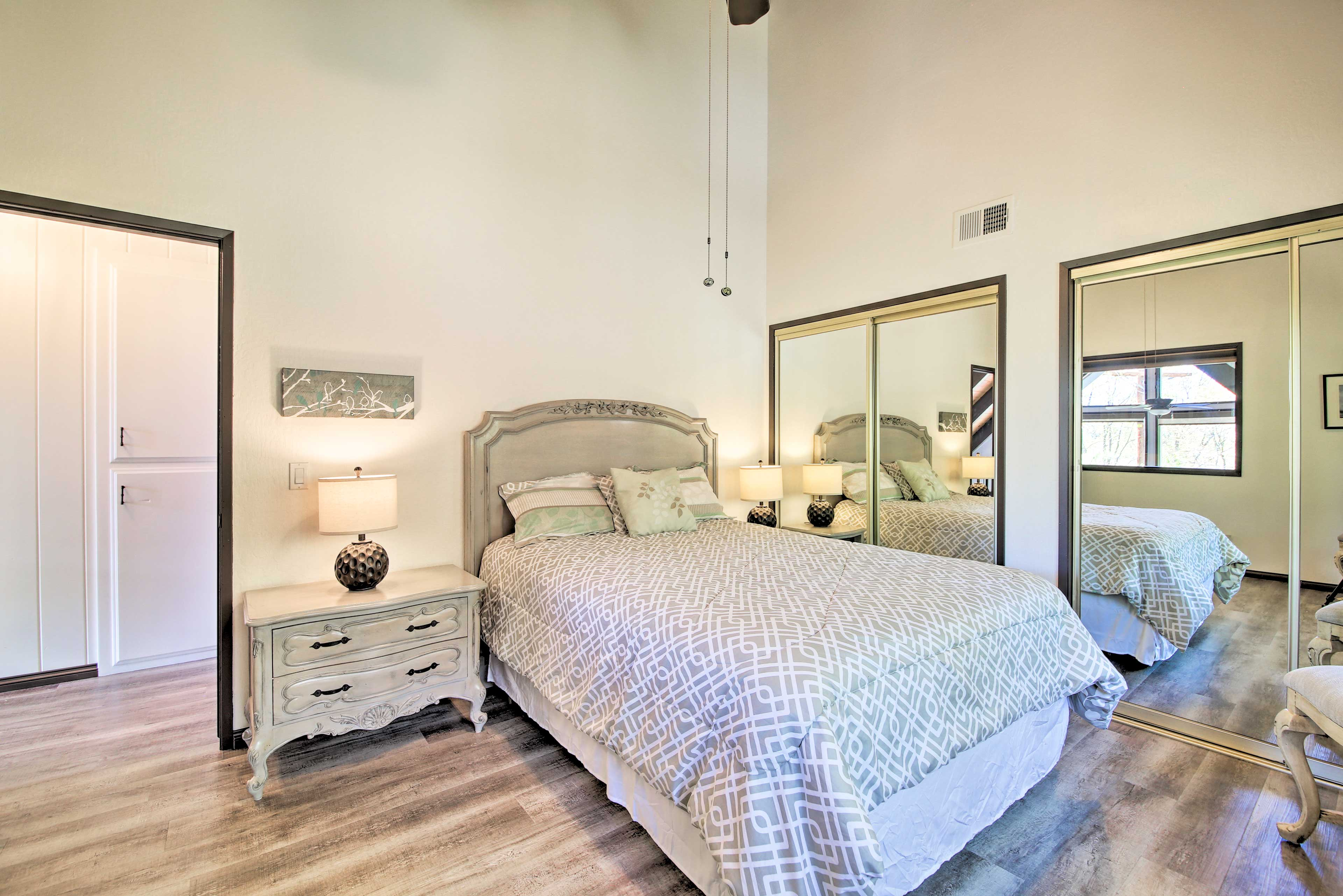Another queen bed can be found in this second bedroom.